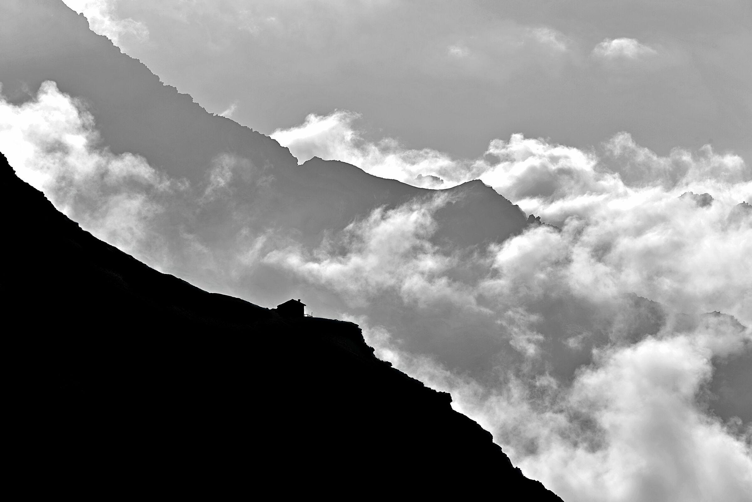 Mountain silhouette...