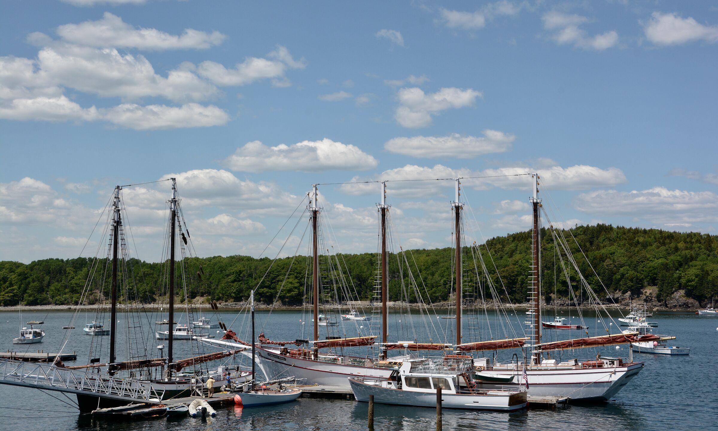 Paesaggio di un porto turistico fuori Quebec...