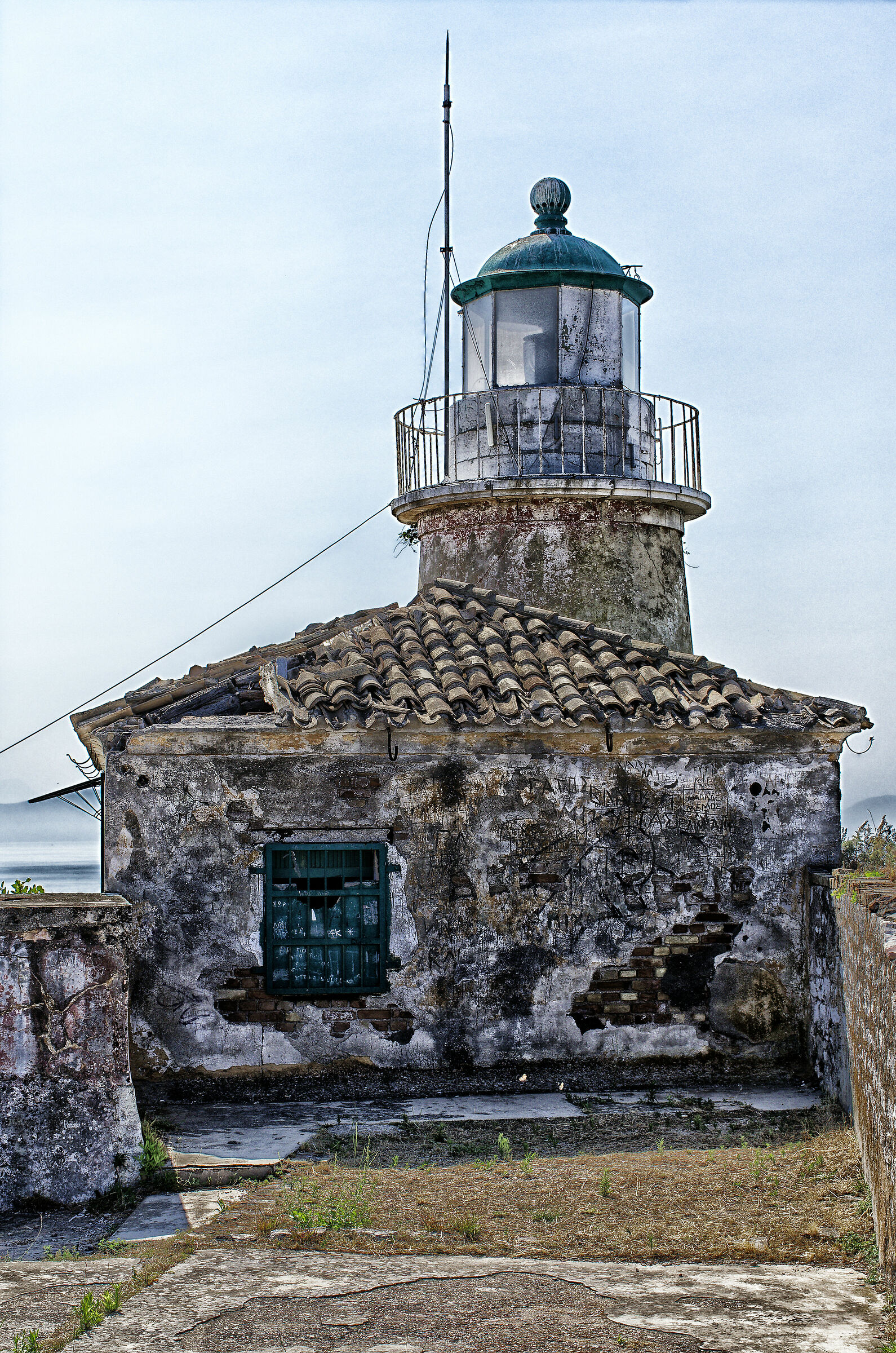 The Lighthouse of the Old Fortress (Corfu)...