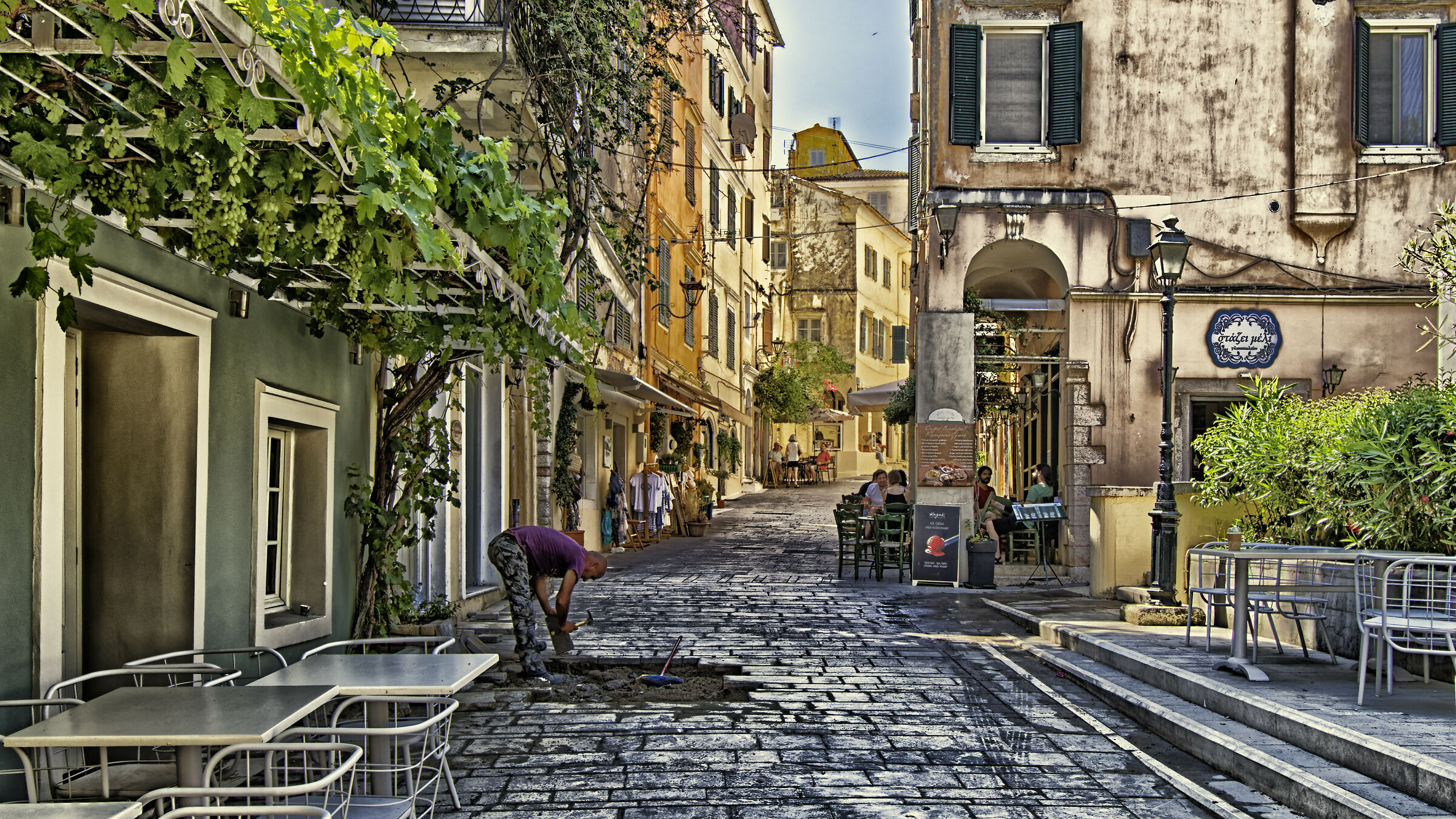 The city in the morning (Corfu)...