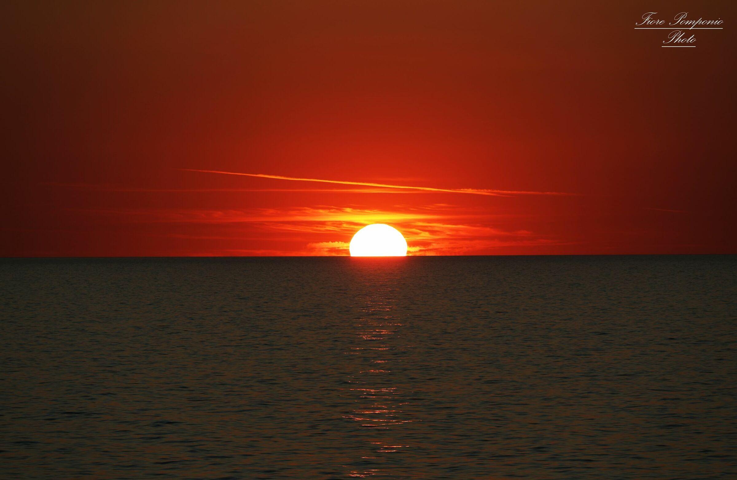 Sunrise over the Adriatic Sea...
