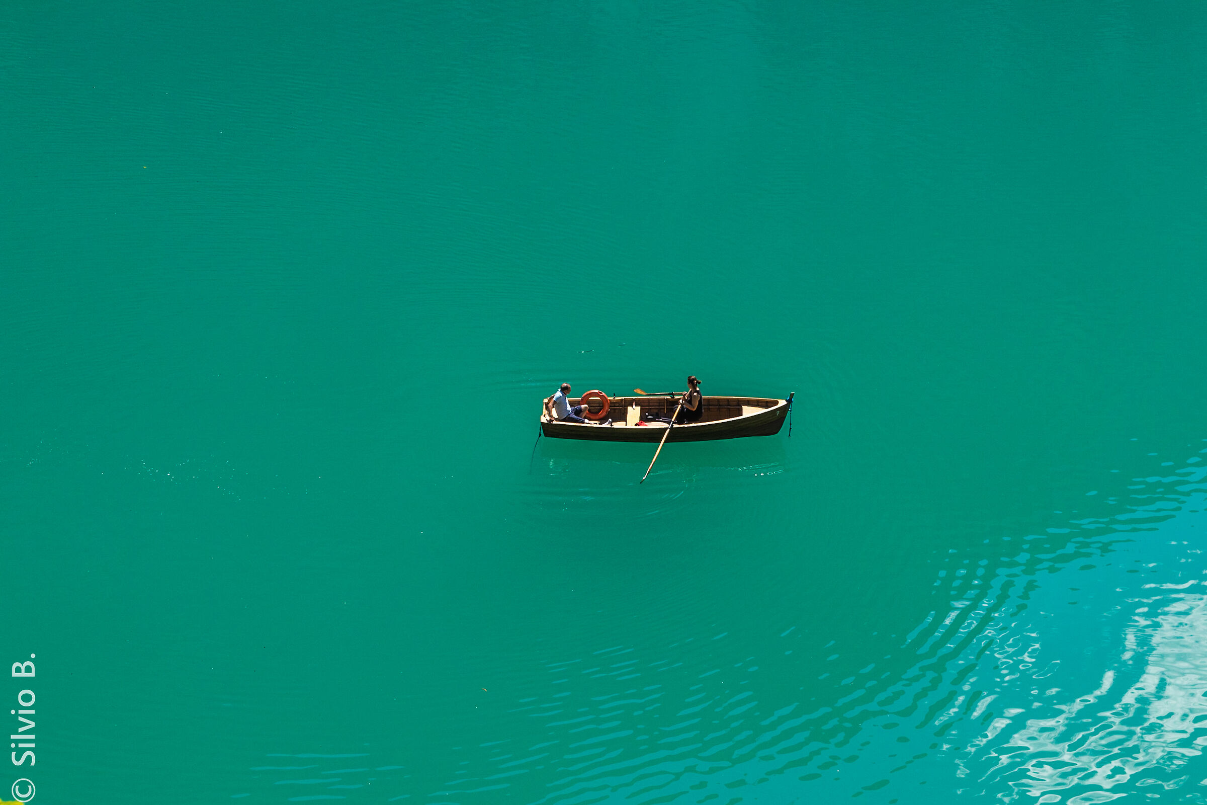 Floating on...... Braies...