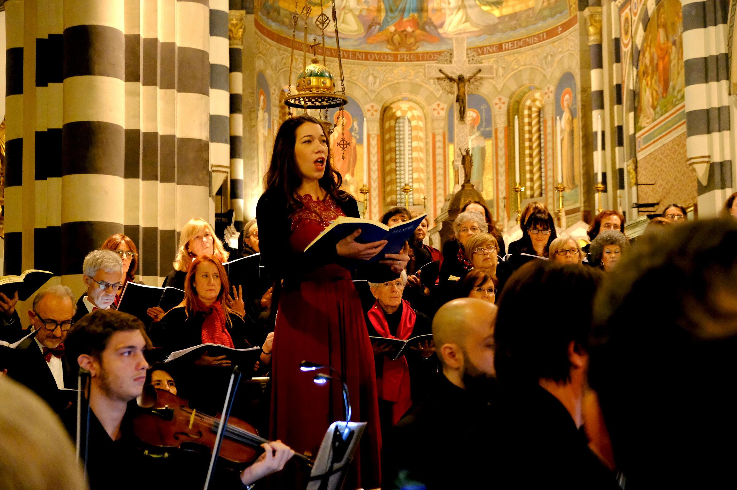 La soprano Marcella Di Garbo...