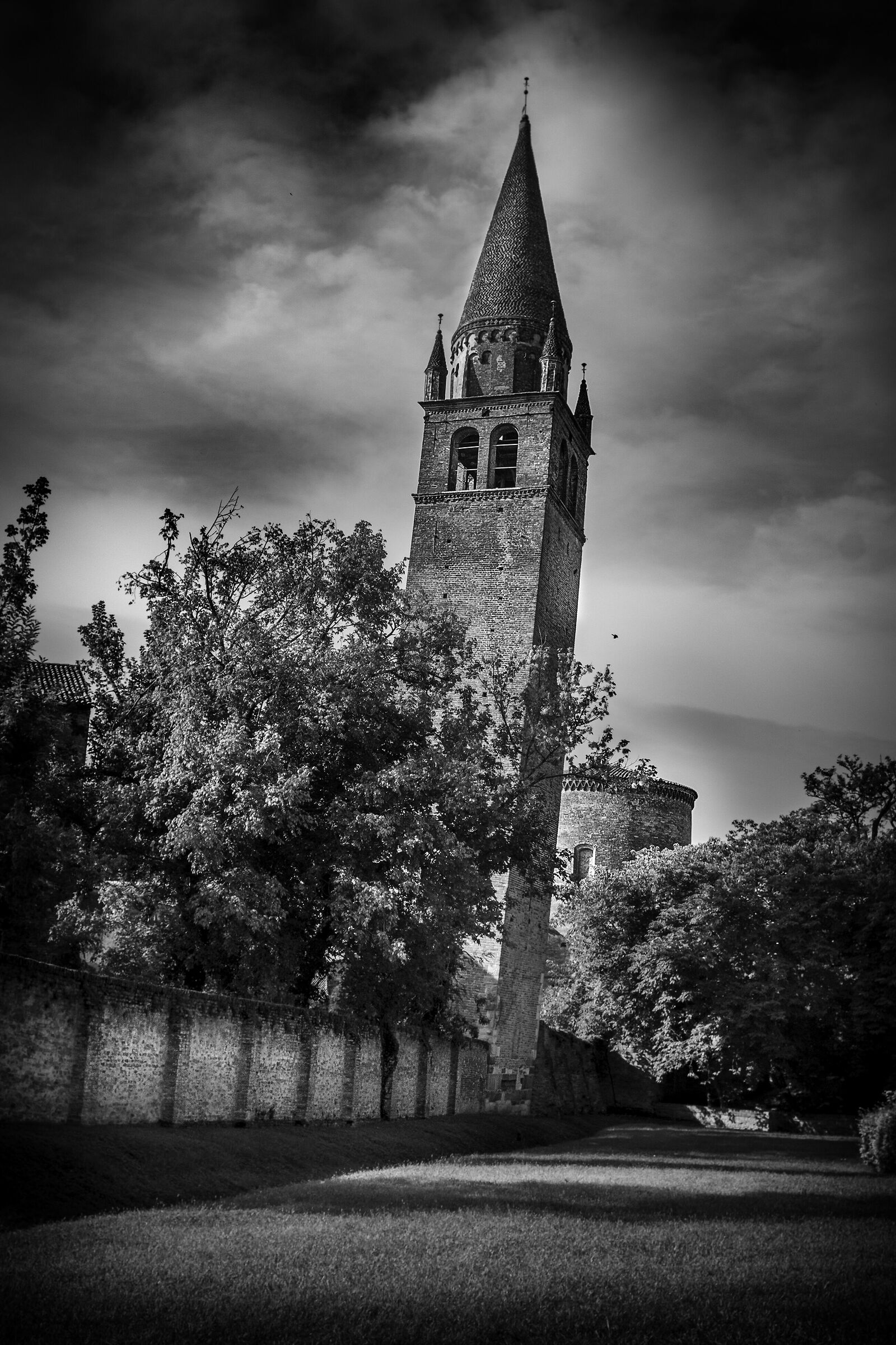 Crooked bell tower...
