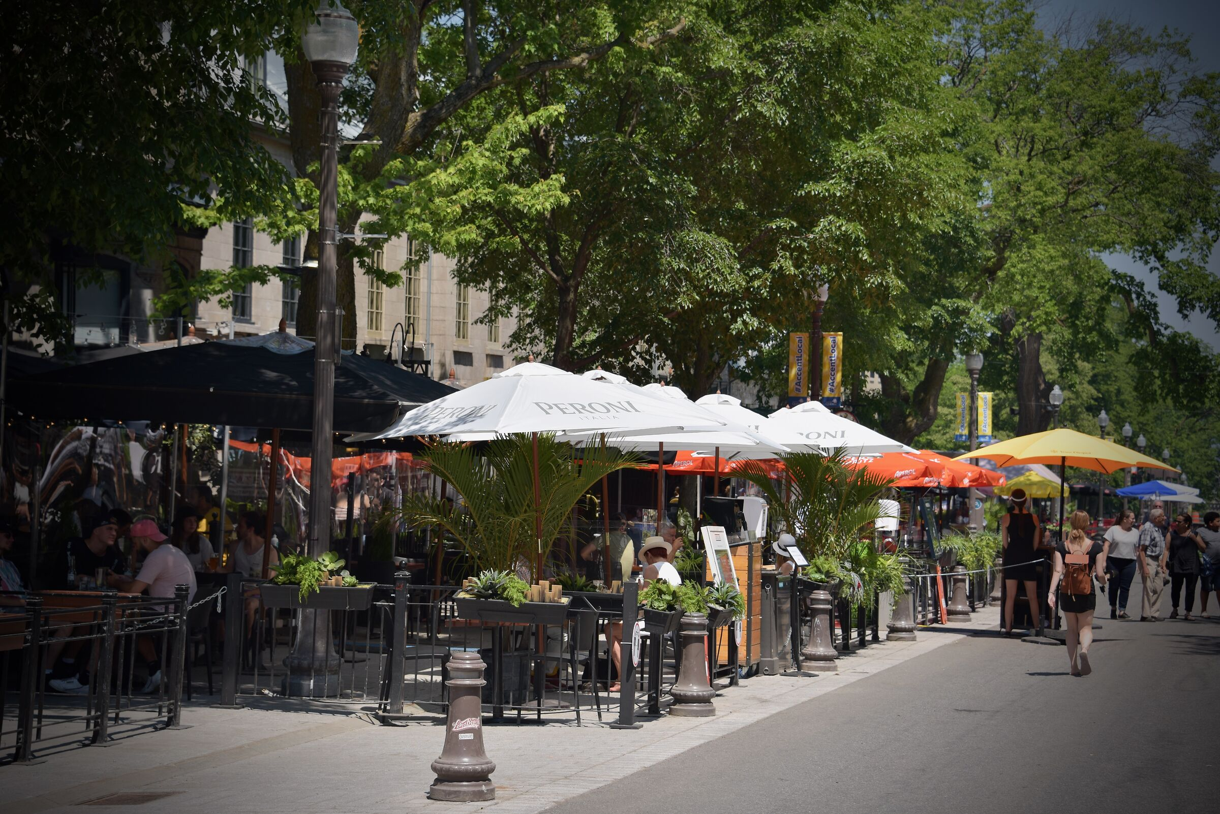 The Grande-Allée-street in Quebec City - Covid 19...