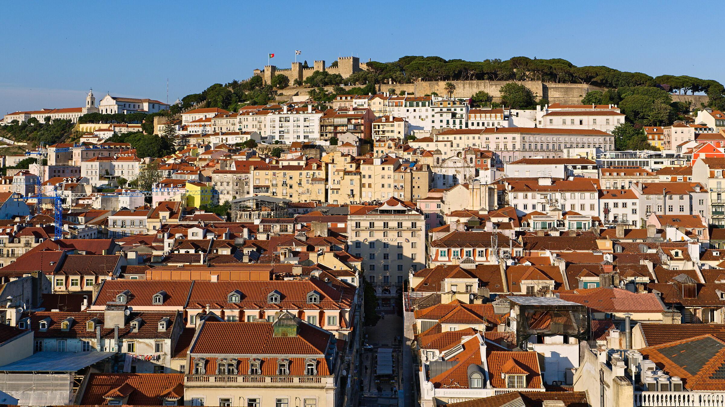 Lisbon as seen from the Elevador de Santa Justa...