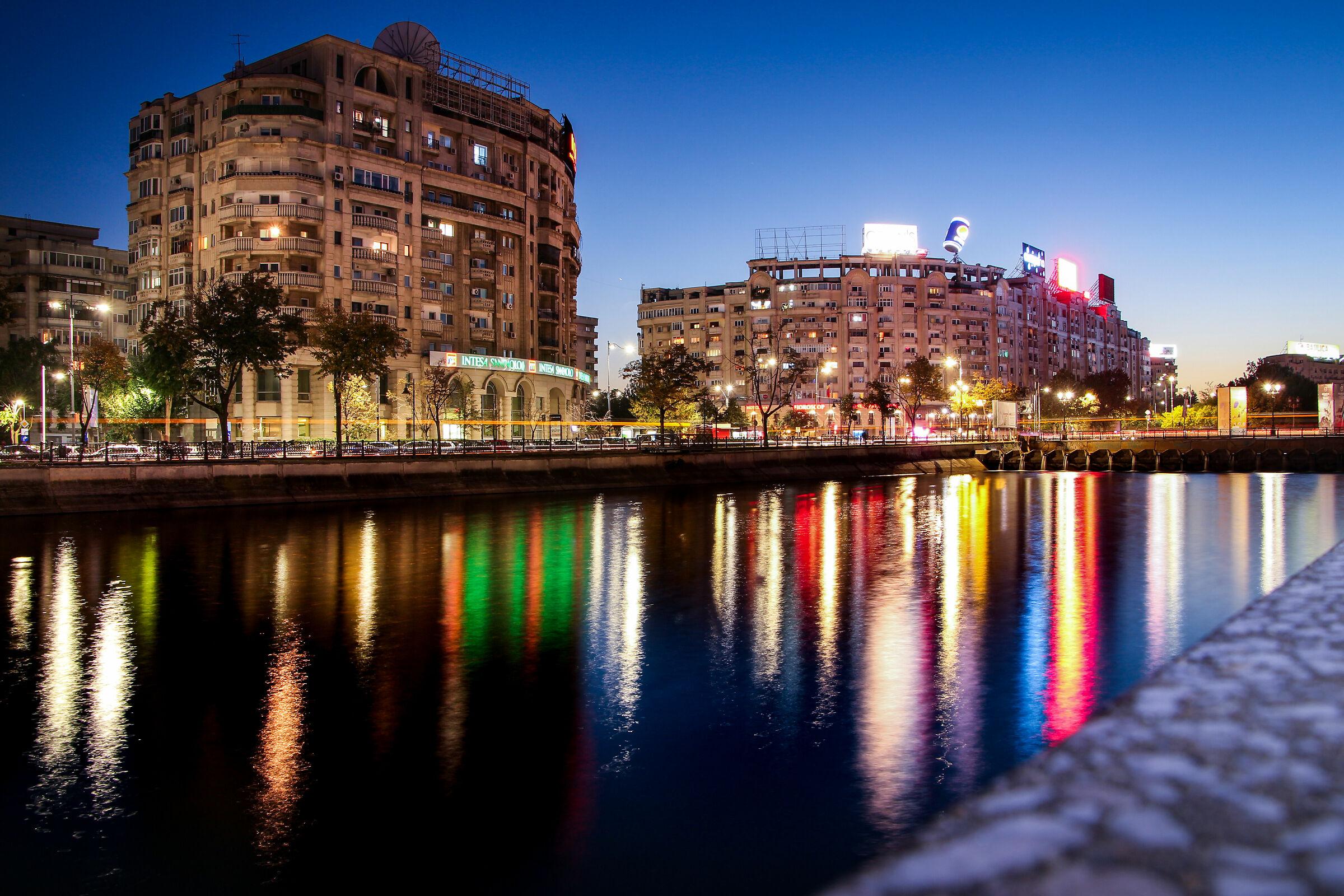 along river square unirii romania...