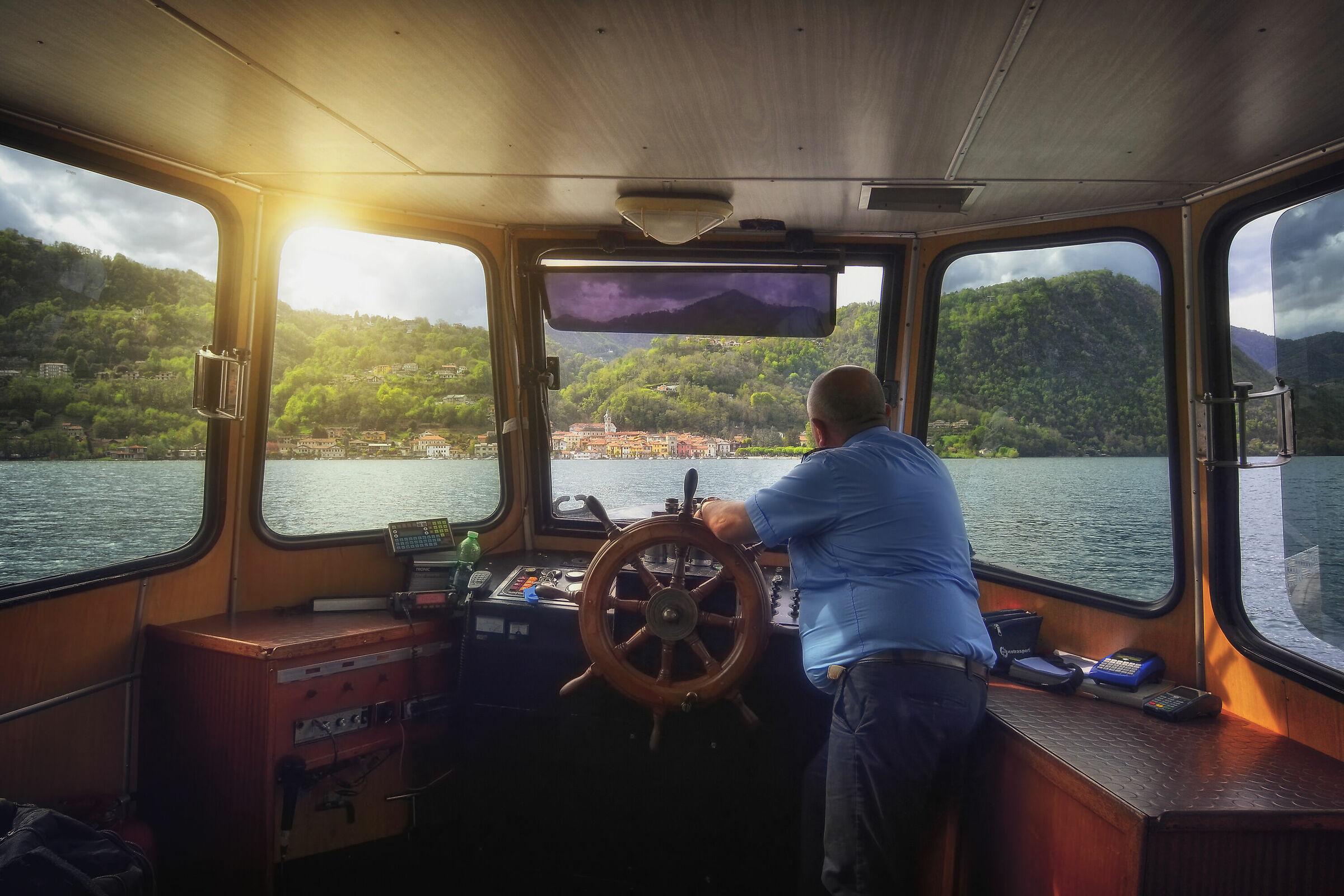 Navigation Lake of Orta - Pella Direction...
