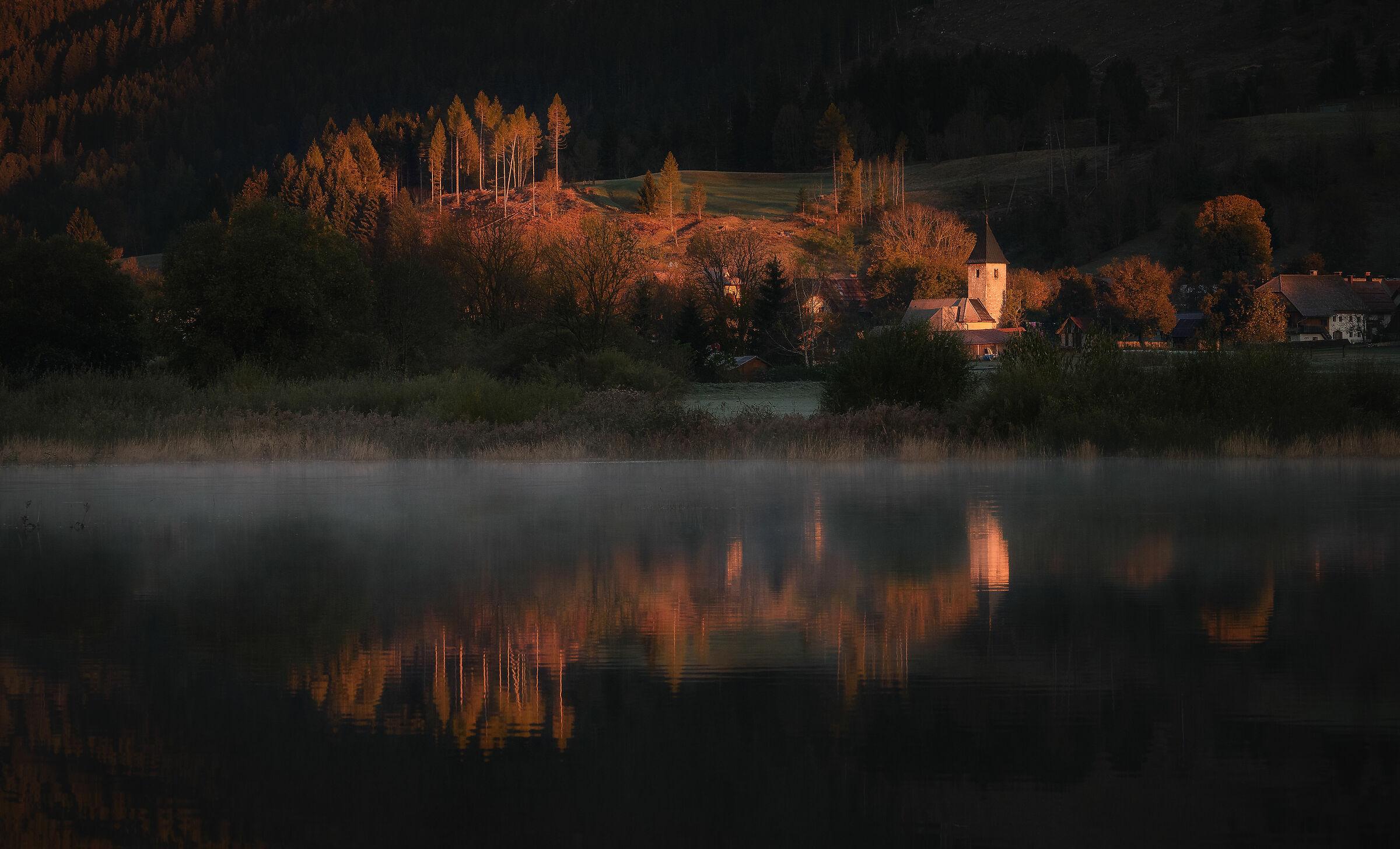 Sunrise at the village...
