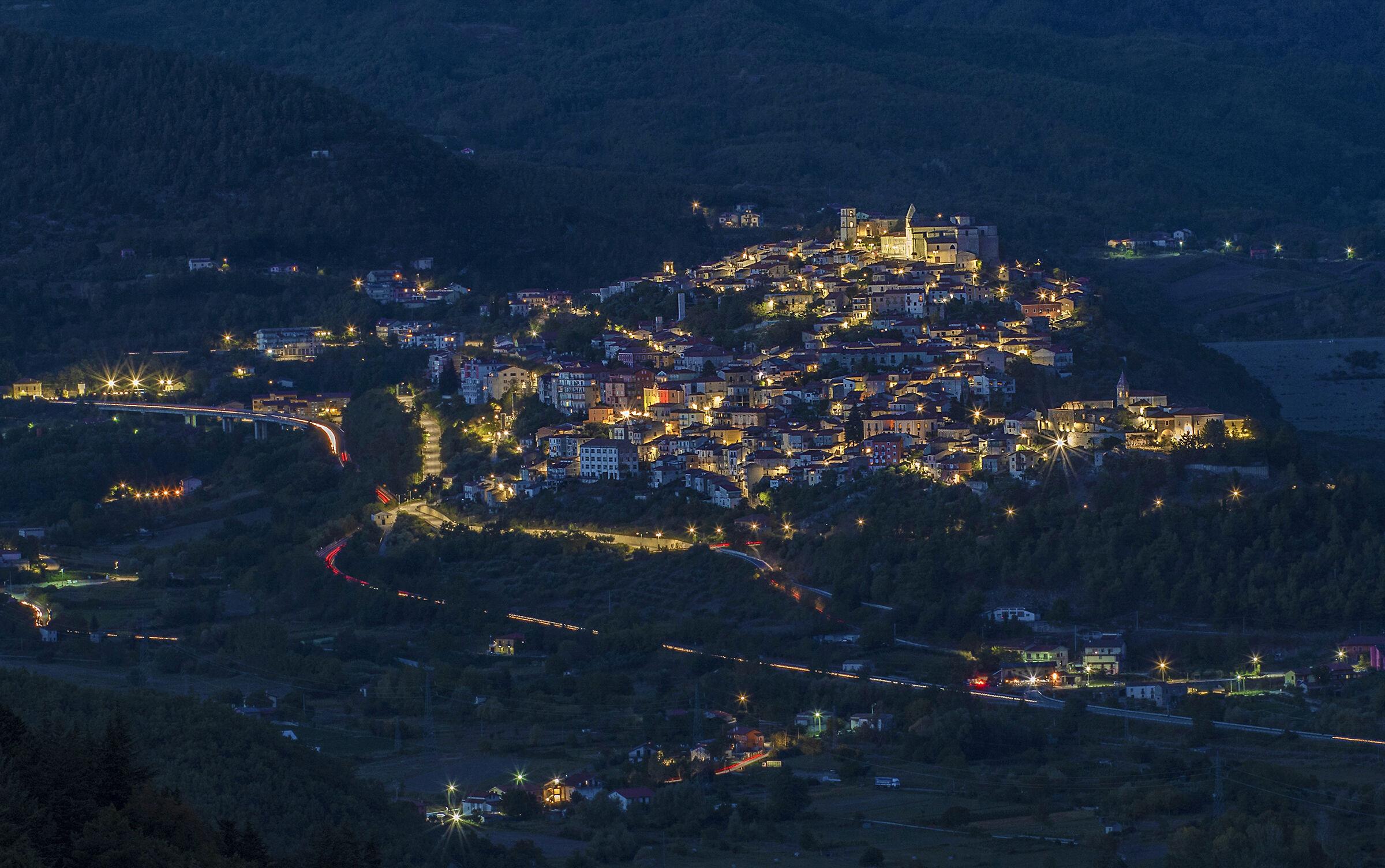 Notturno di un borgo lucano...