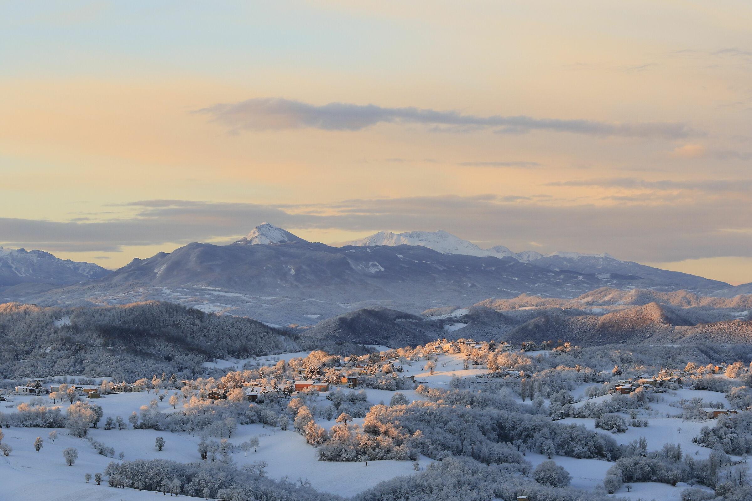 A wonderful morning in the Reggio Apennines...