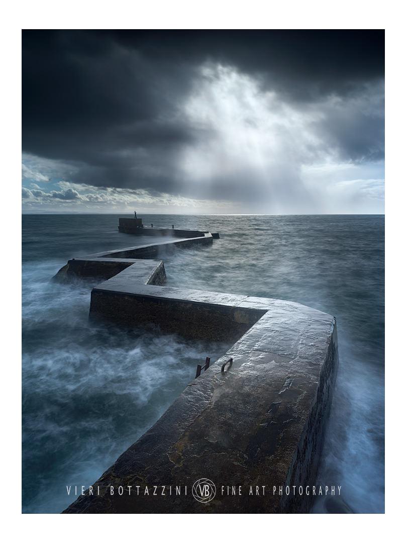 Storm over St Monans' zigzag pier...
