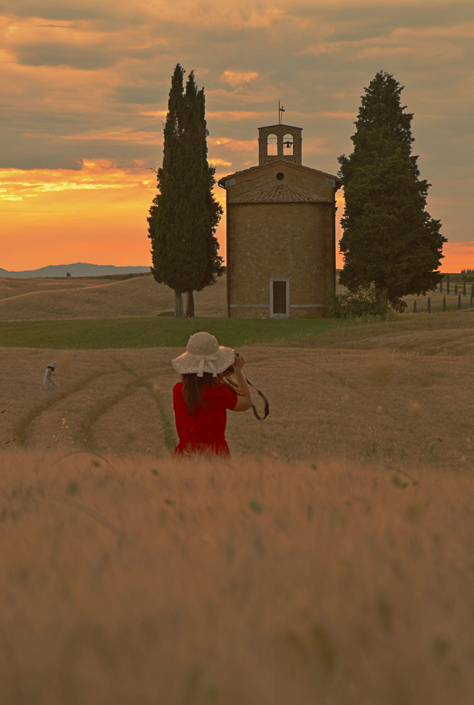 Sunset in Vitaleta...