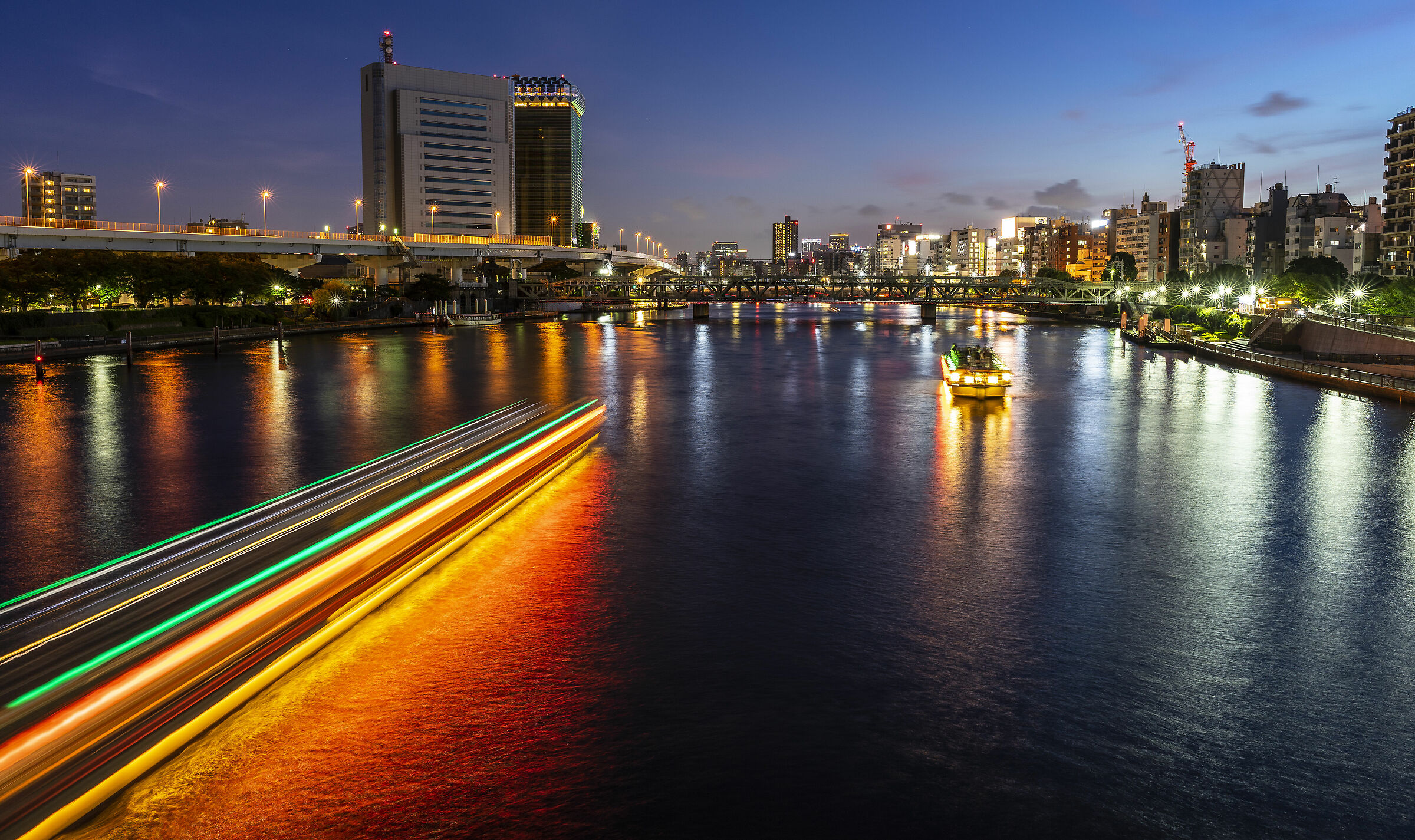 Tokyo, on the river. ...