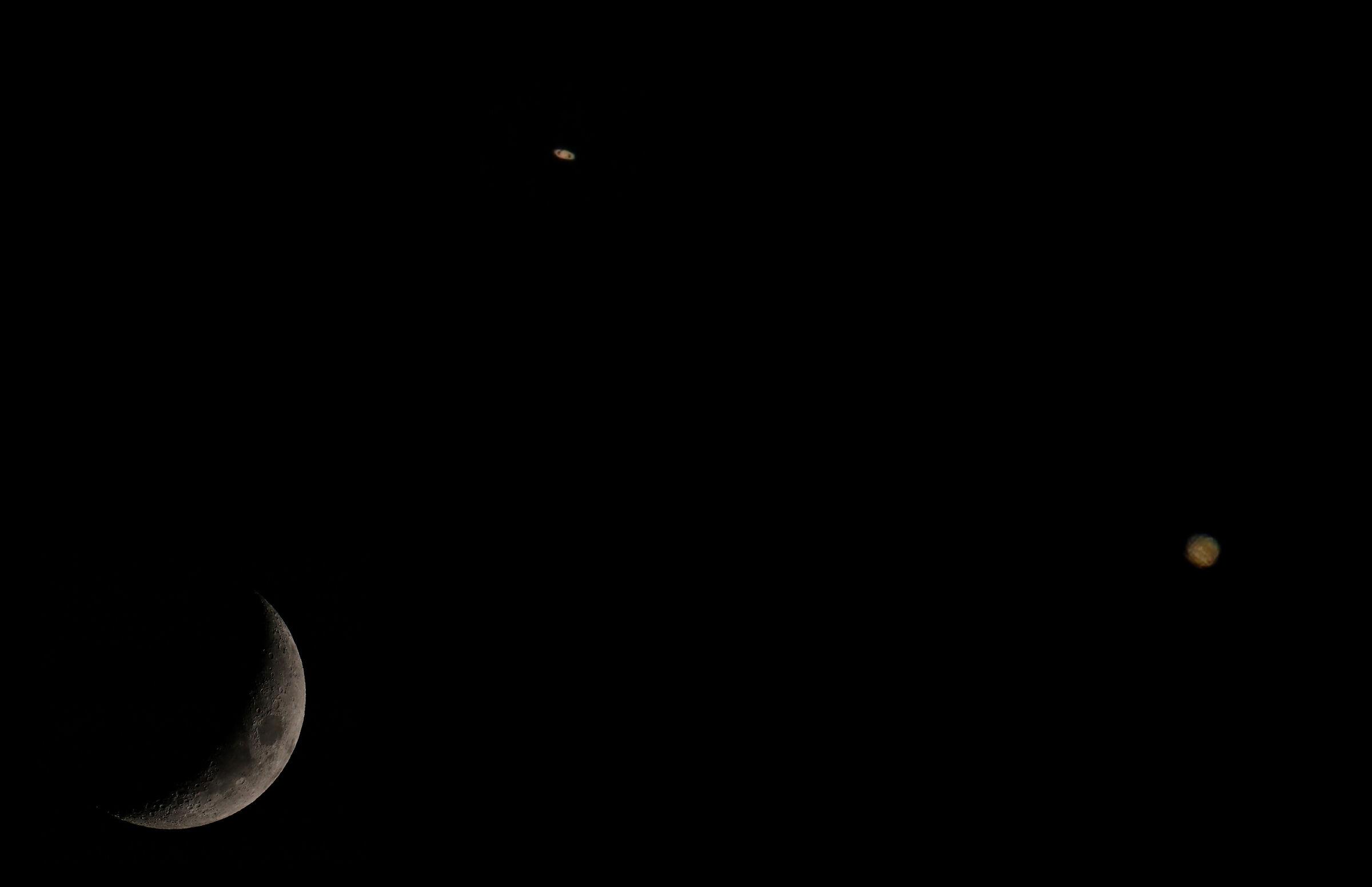 Moon Jupiter Saturn...