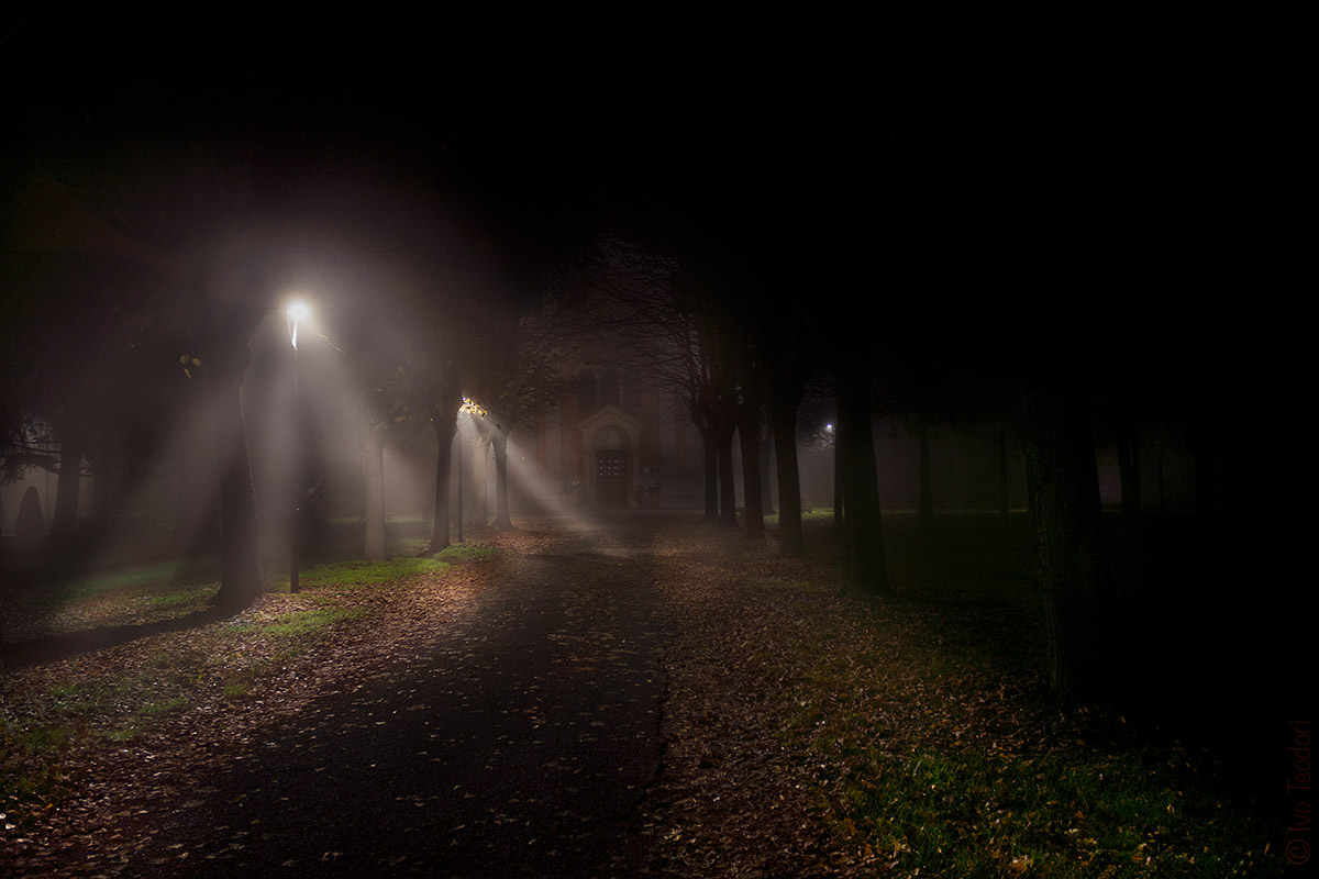 November, fog, light, a landing place.... Maybe....