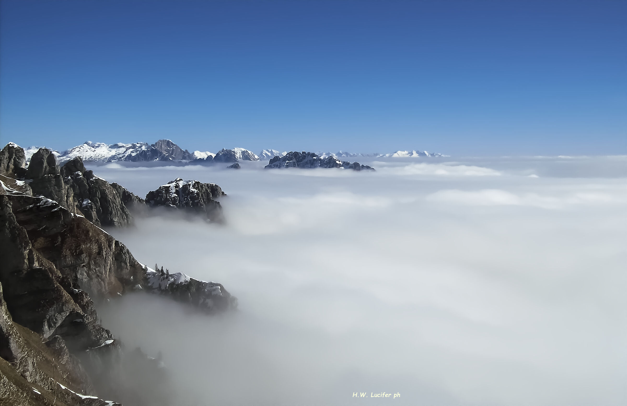 Islands in a sea of clouds...