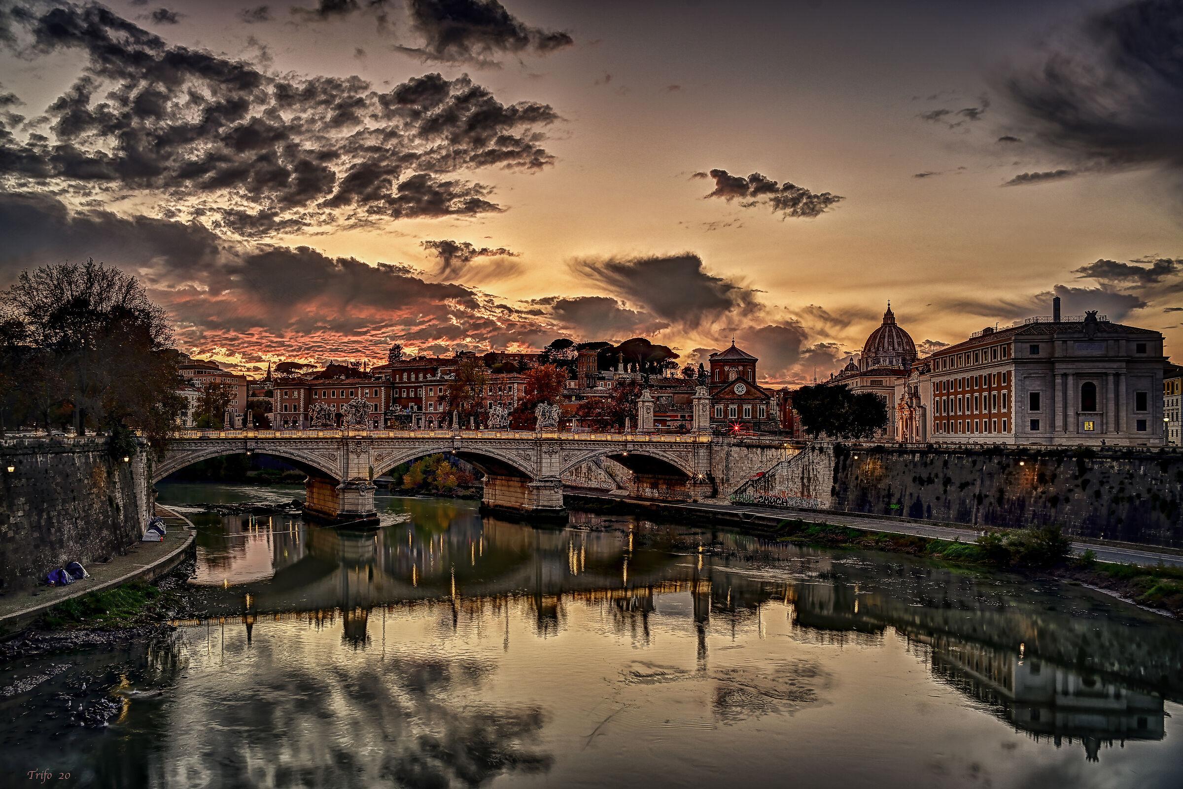 Roman sunset .......