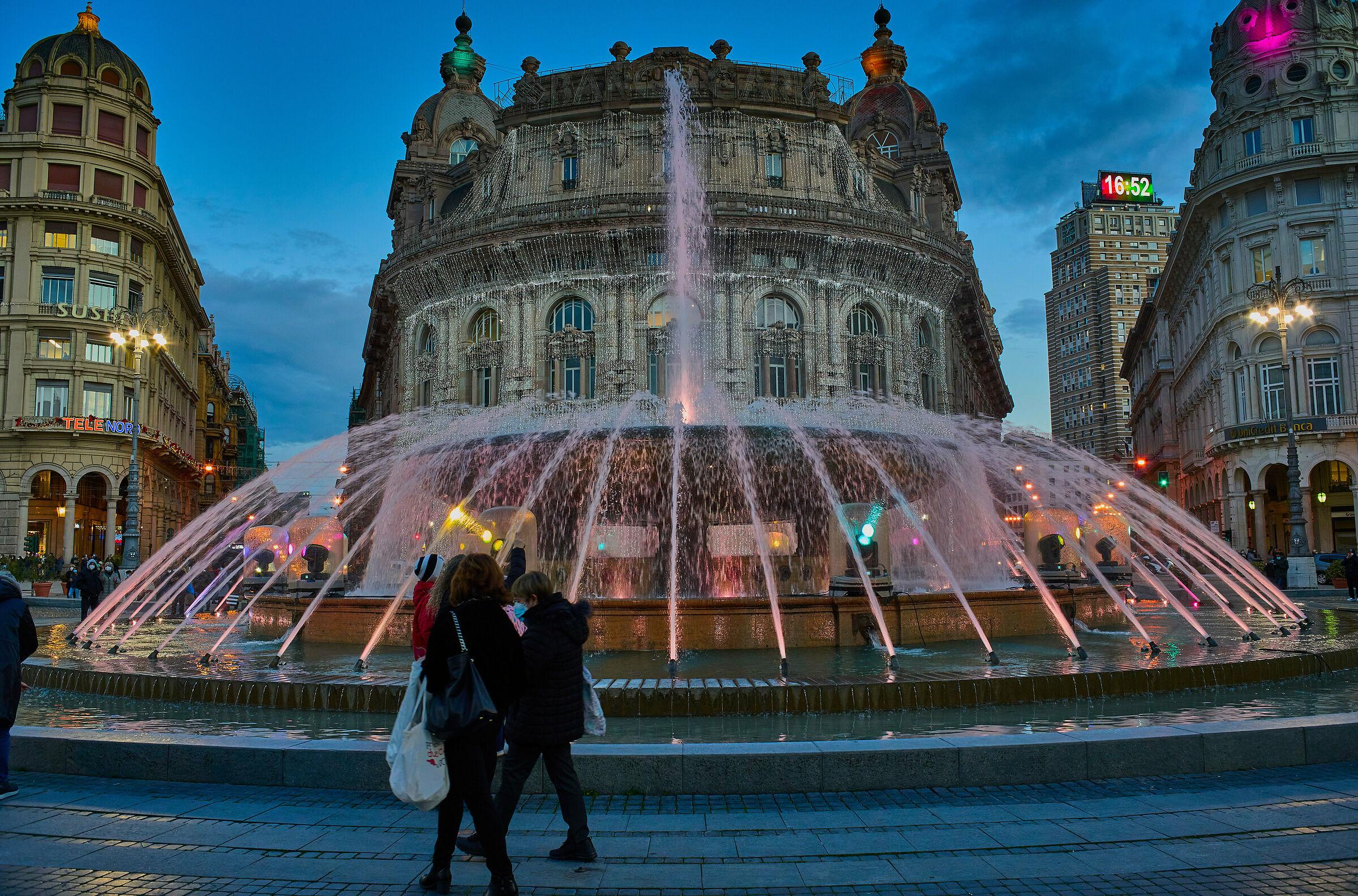 Piazza De Ferrari - la fontana...