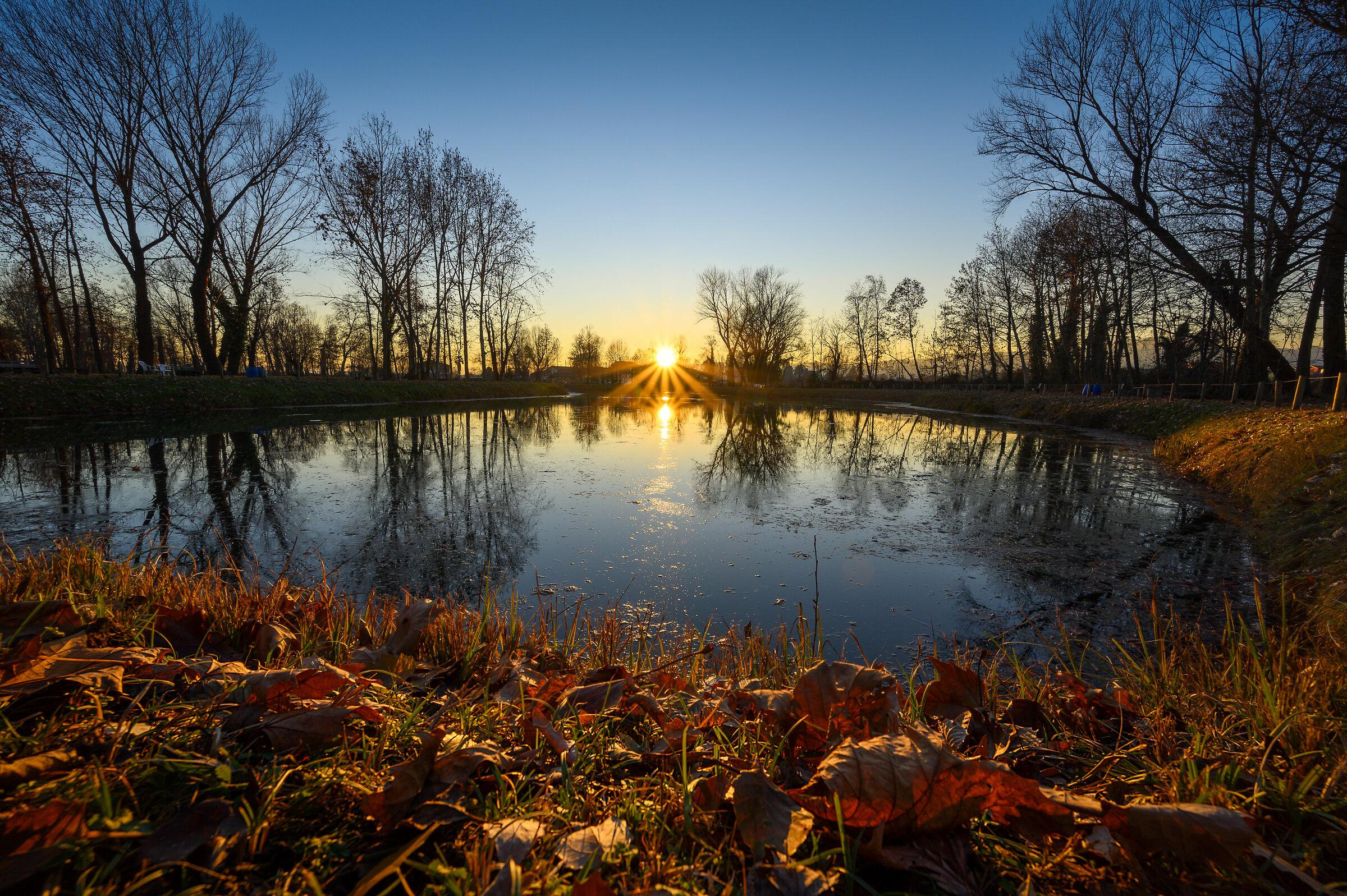 Late autumn sunset...