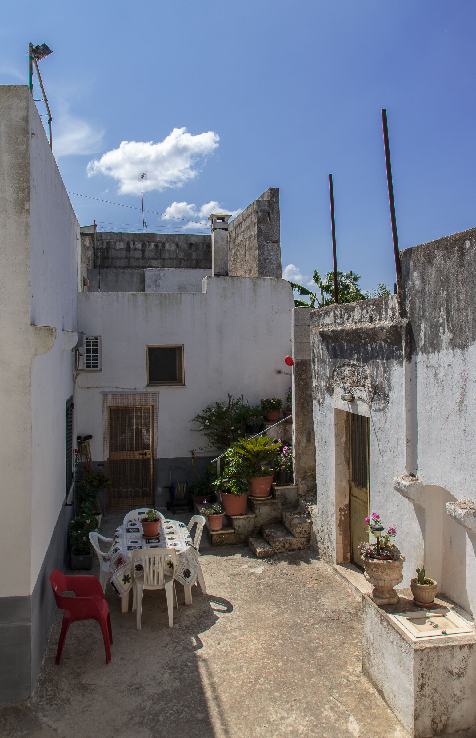 At lunch... In the alleyways Salento!...