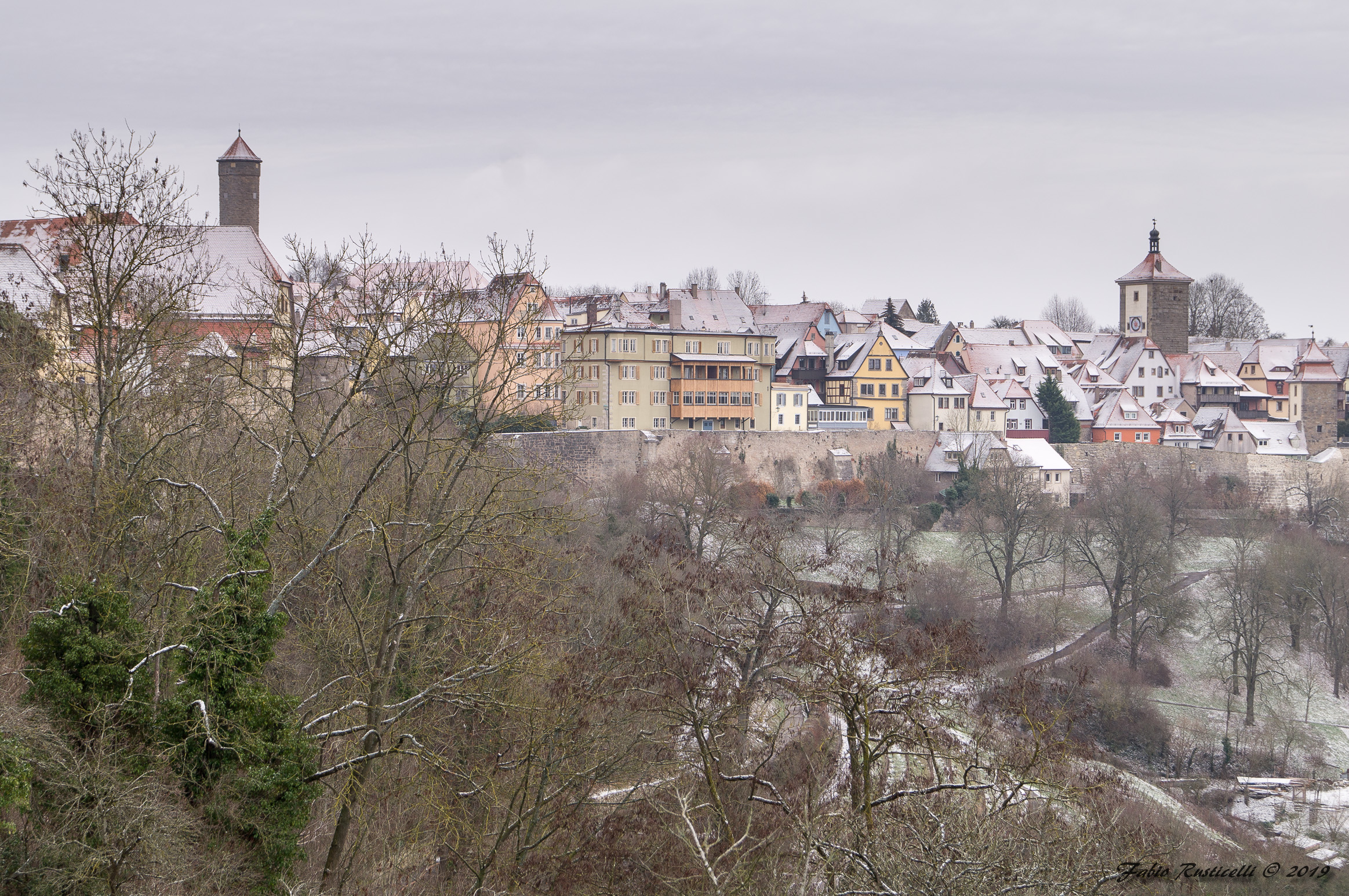 Winter Panorama of Rothenburg ob der Tauber...
