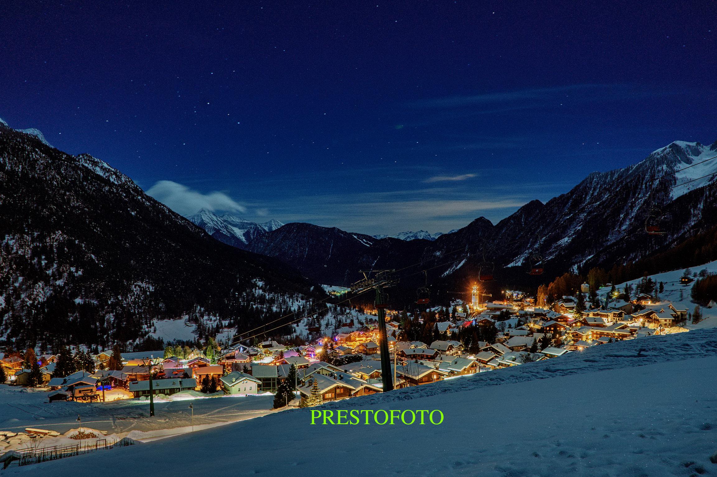 notturno Val d'Ayas...