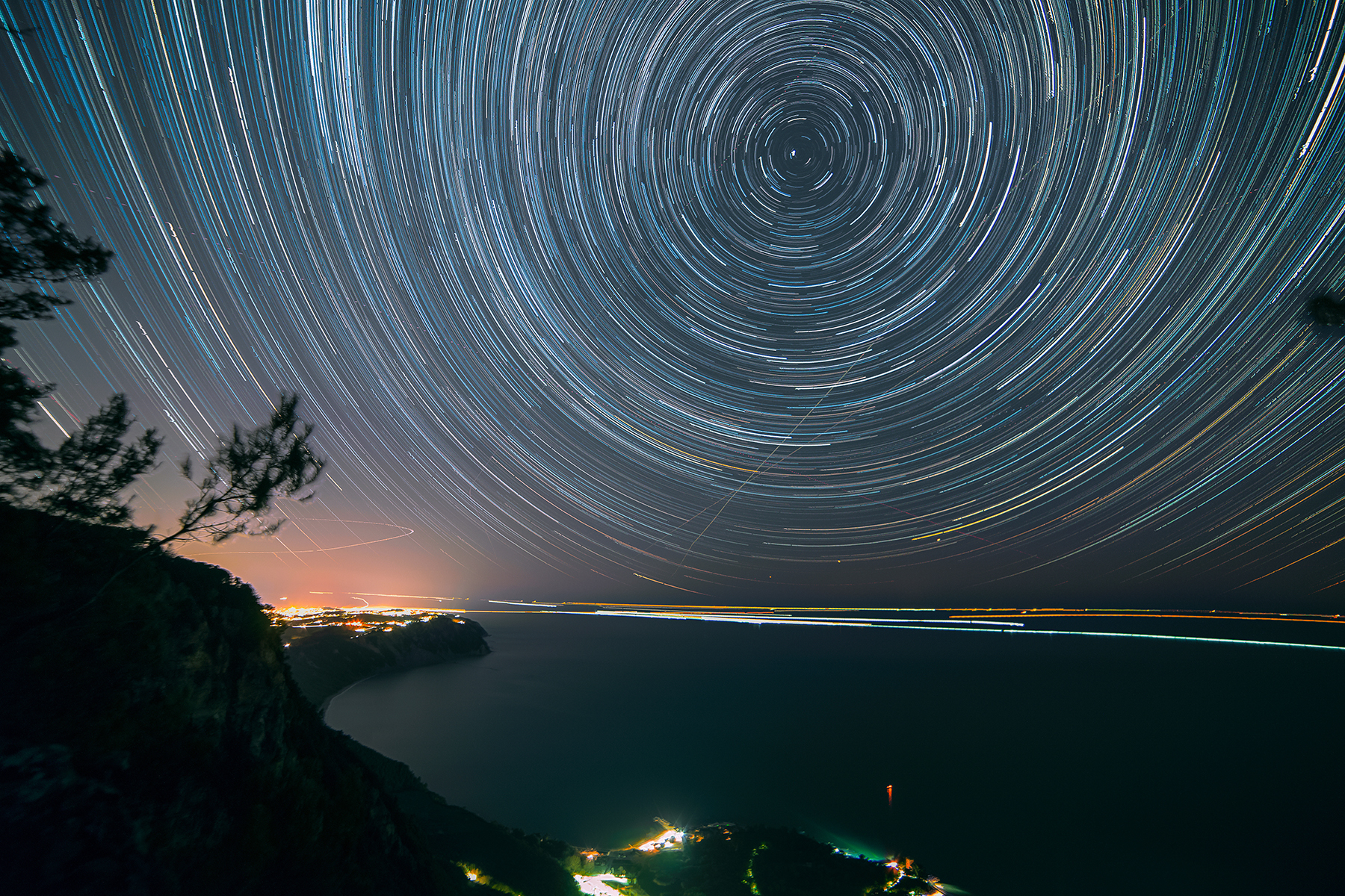 Star Trail from Pian Grande...