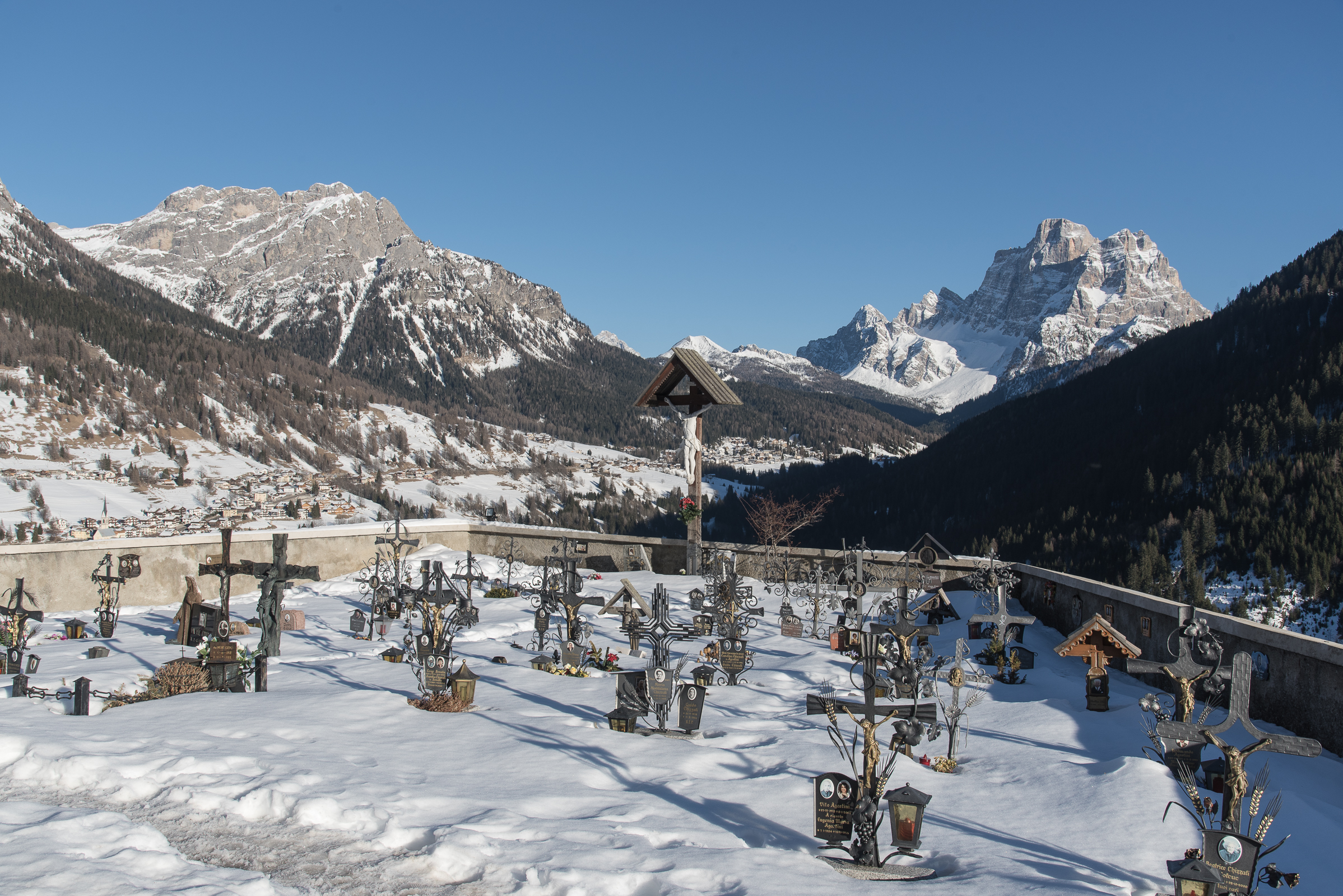 The Val Fiorentina, from the cemetery of Colle Santa Lucia...