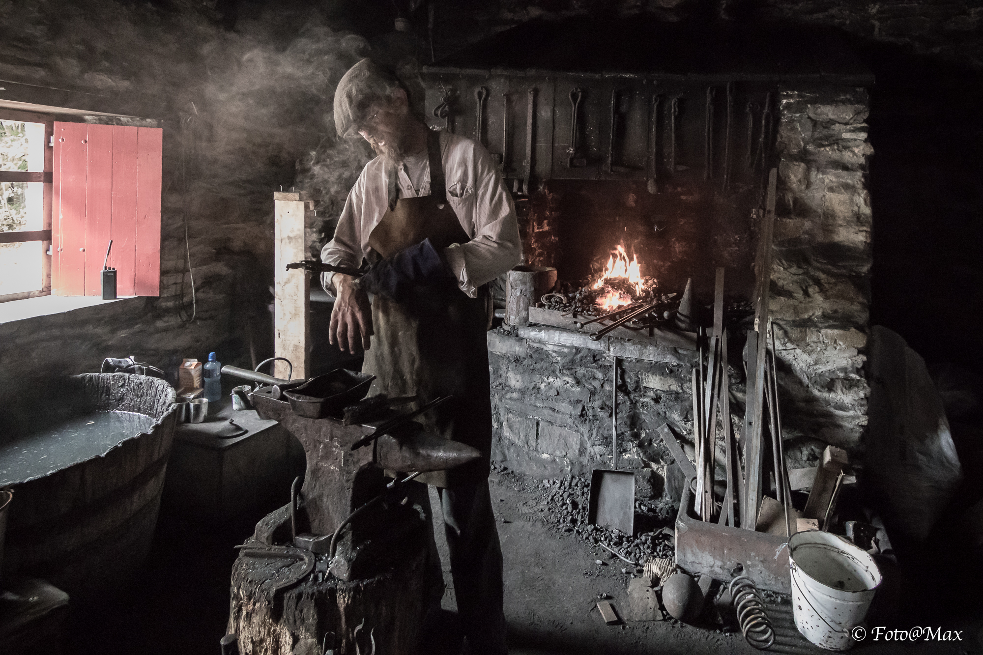 the blacksmith...