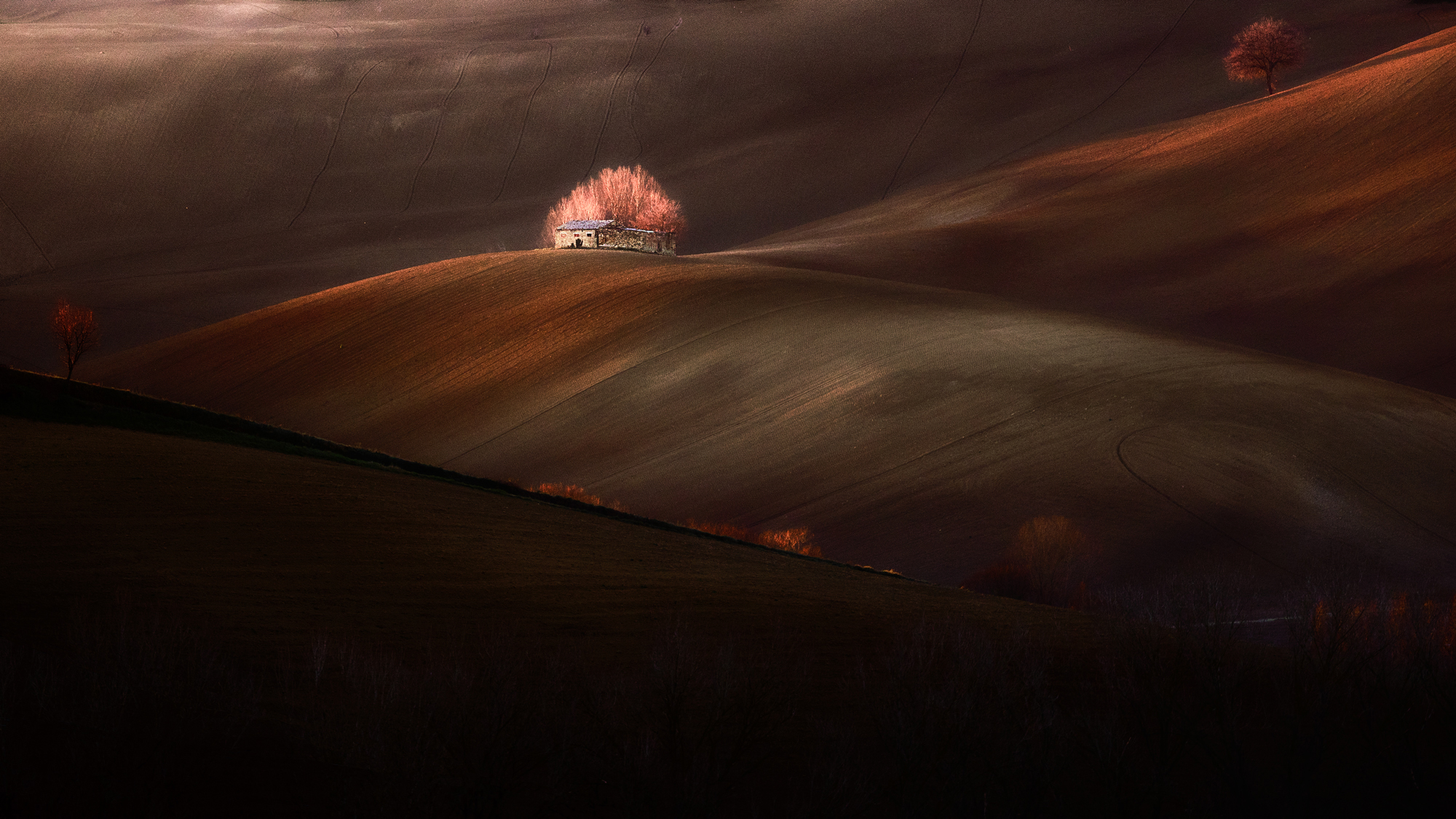 The hut and the first light...