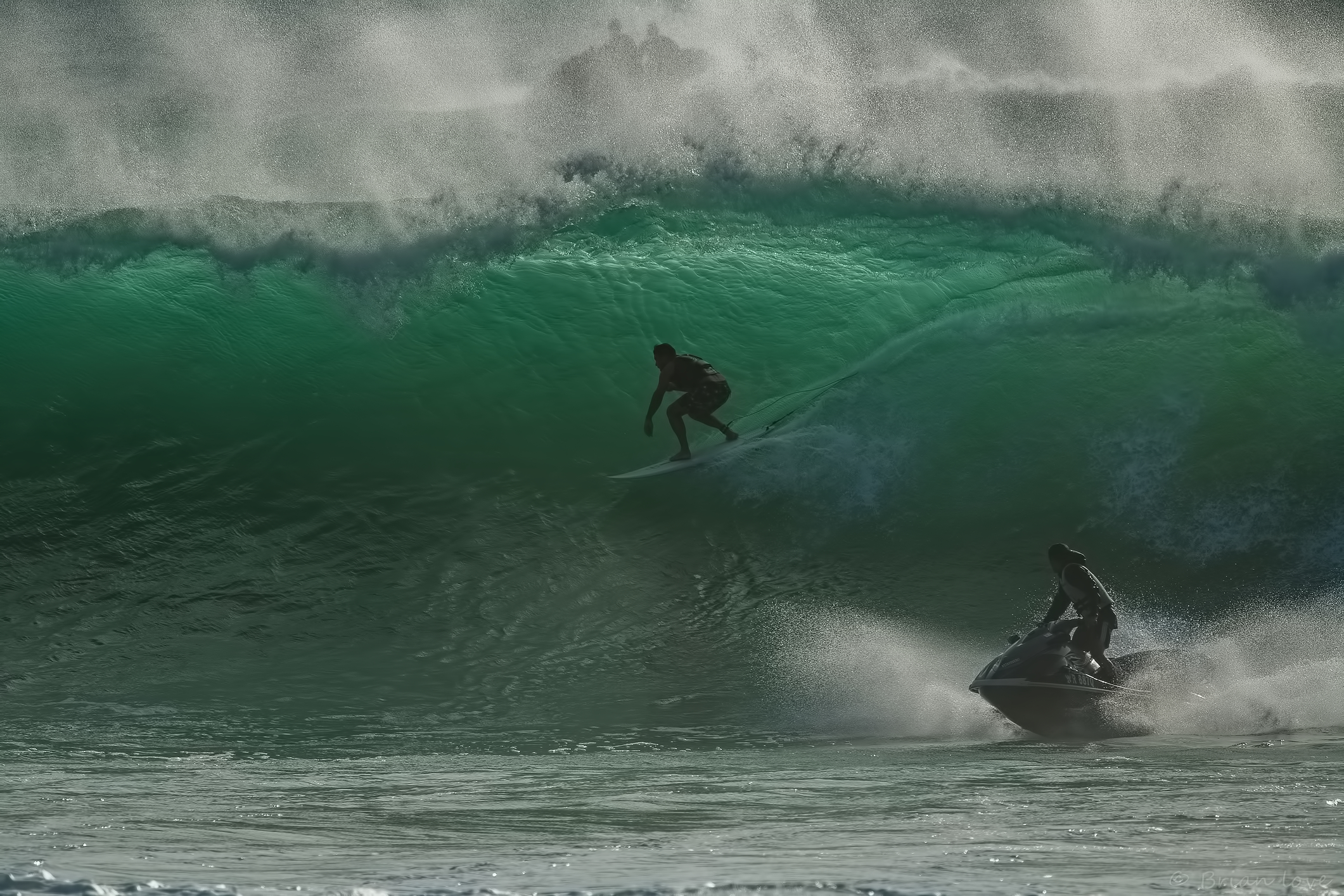 Big Swell Tow in Surfing...