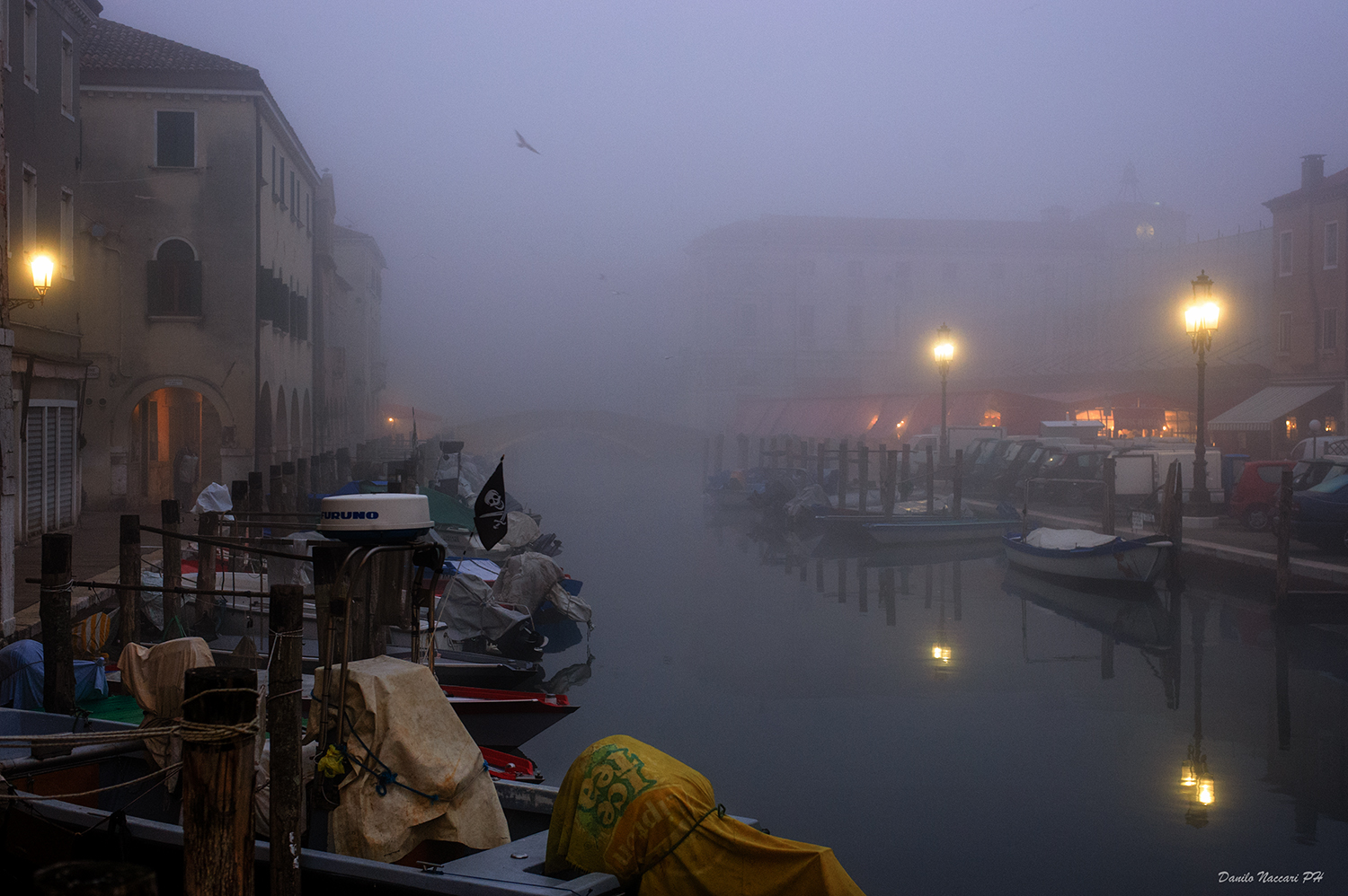 "Chioggia, fog on the ""Vein""..."