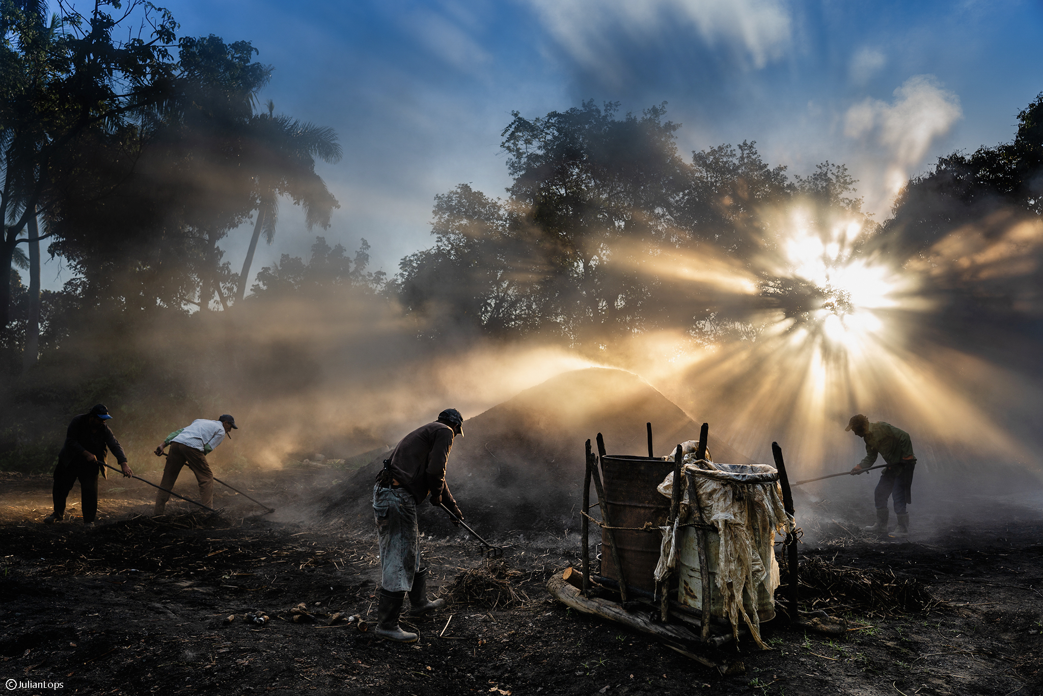 The coal men of sunrise...