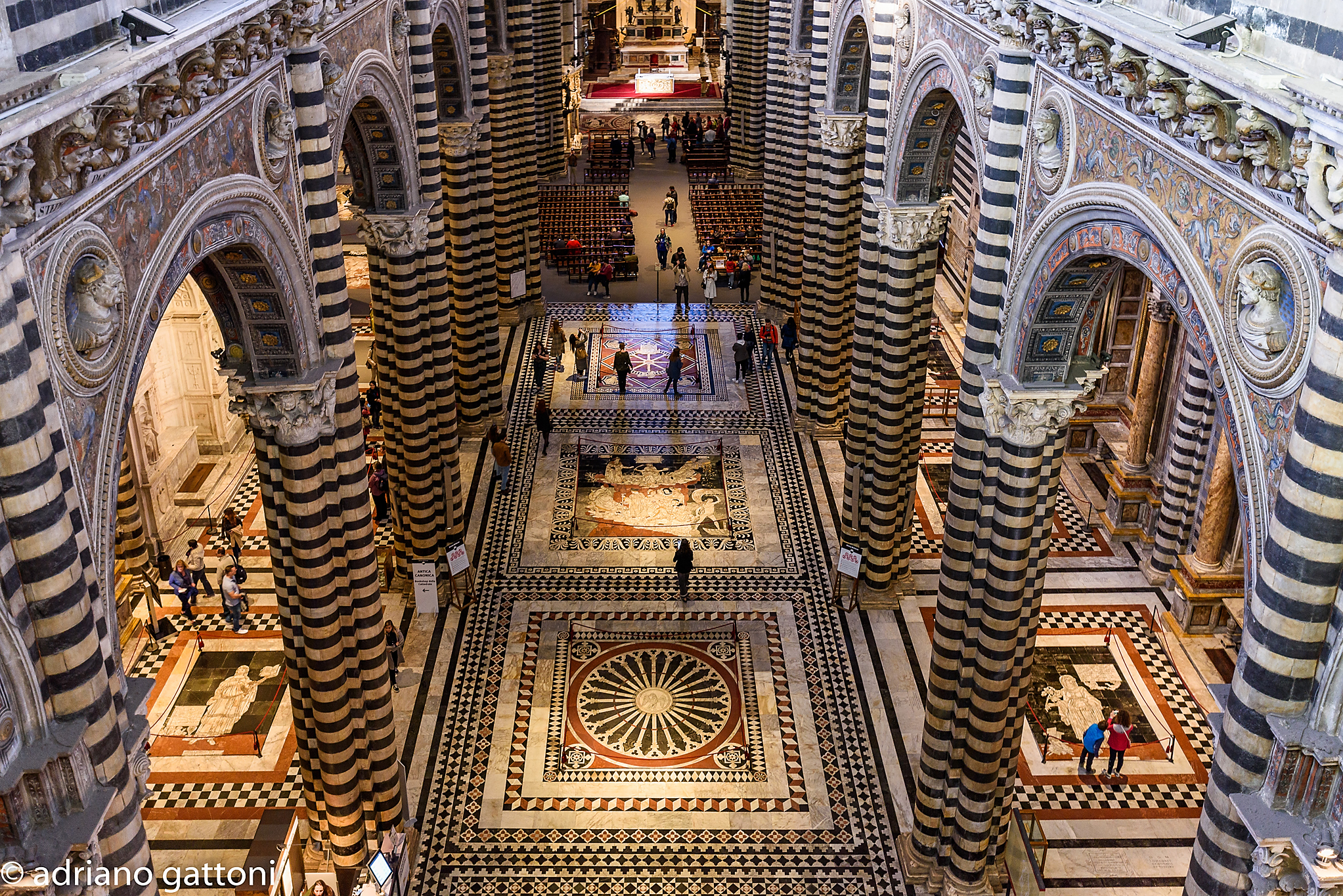 """Cathedral of Siena taken from the """"Door of Heaven""""..."""