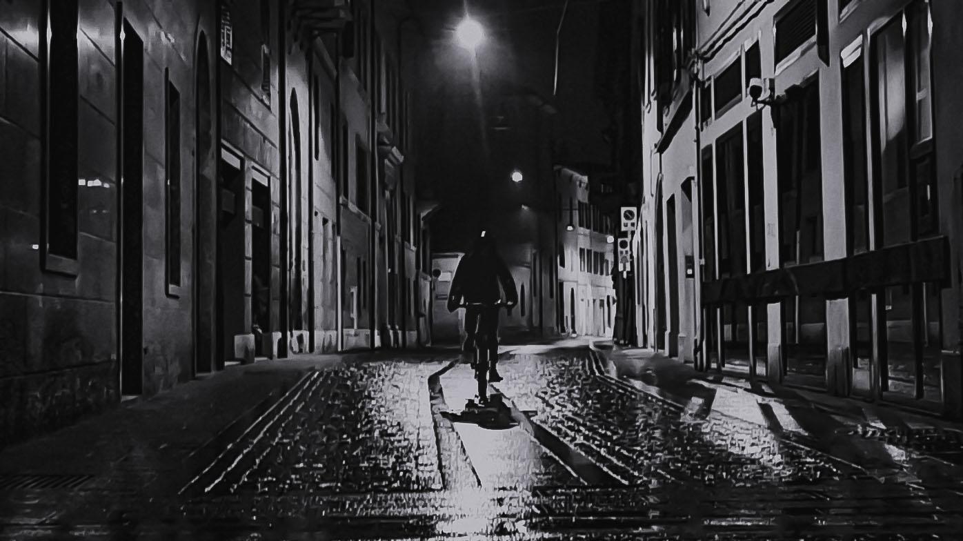 The dark cyclist...