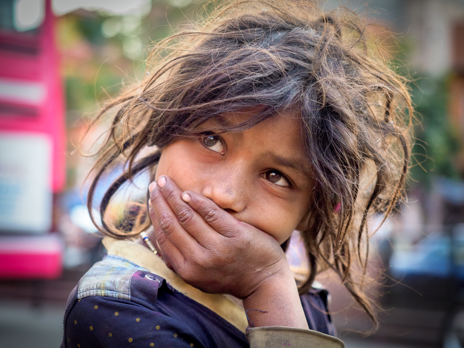 Along the streets of Japur I met.............