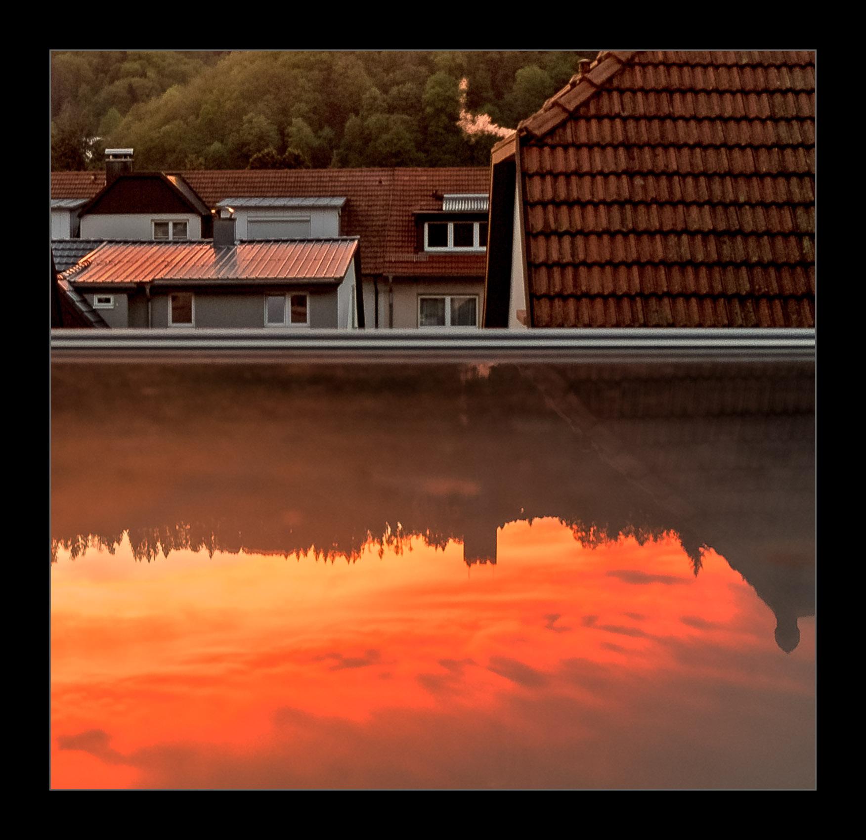 Reflected sunset...