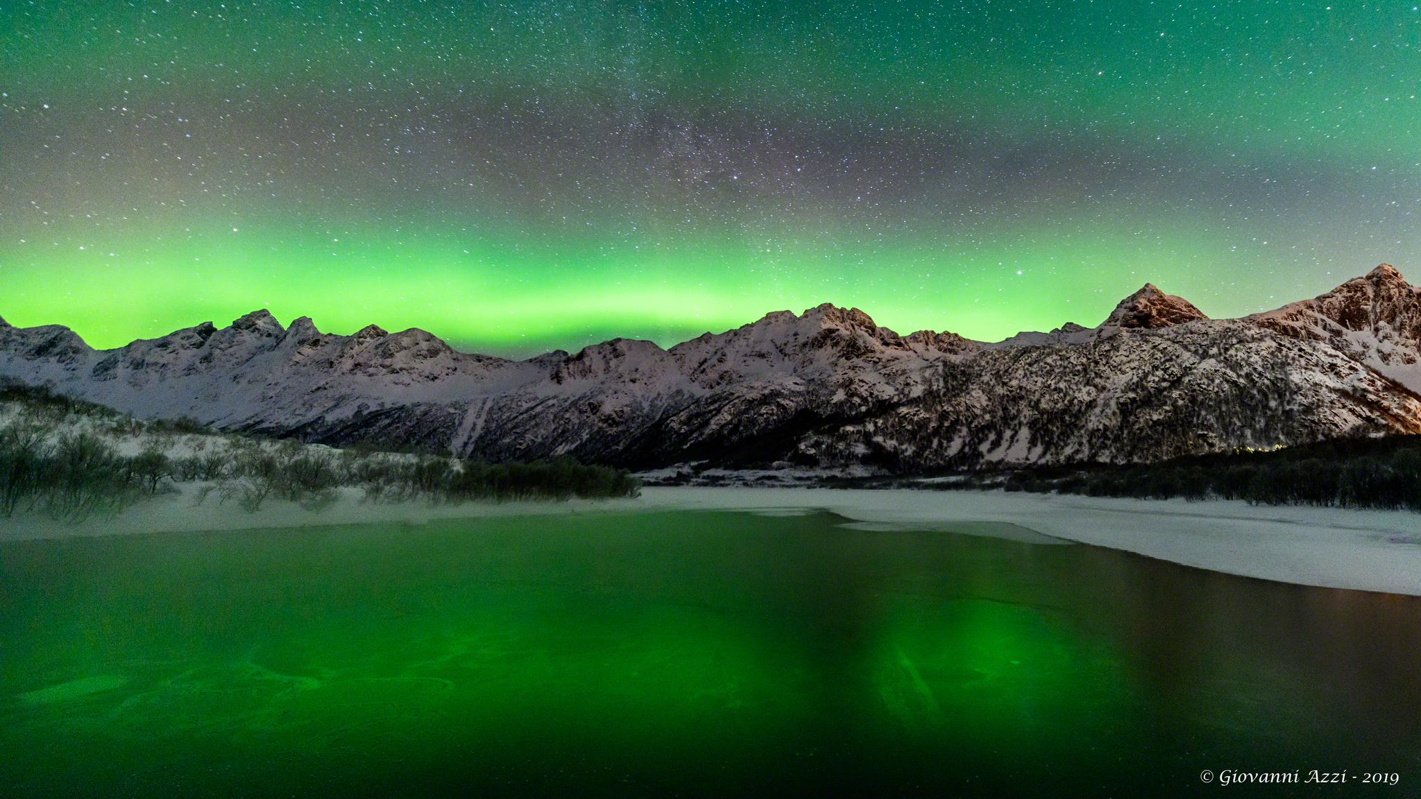 Mountain aurora...
