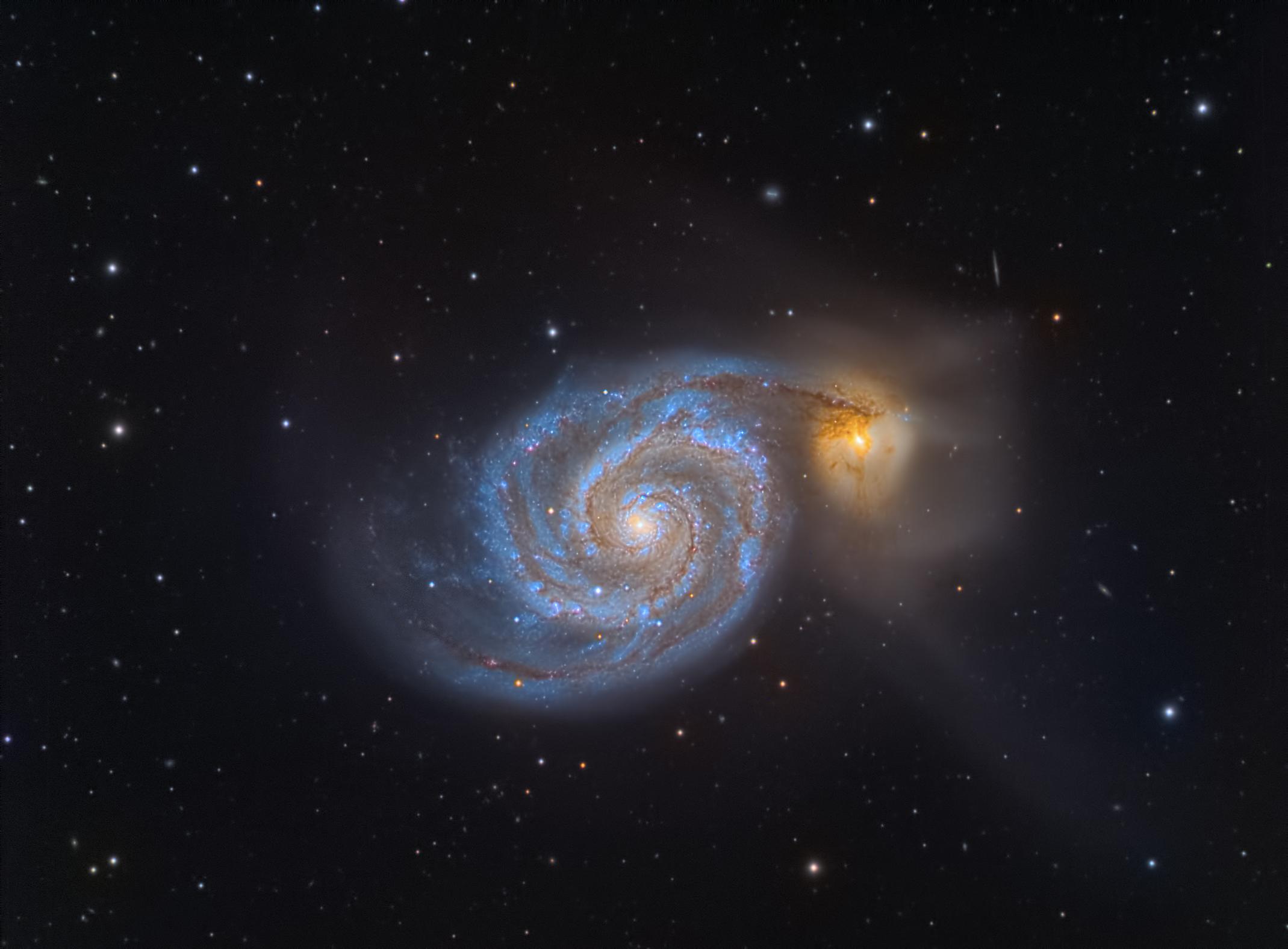 M 51-Whirpool Galaxy...