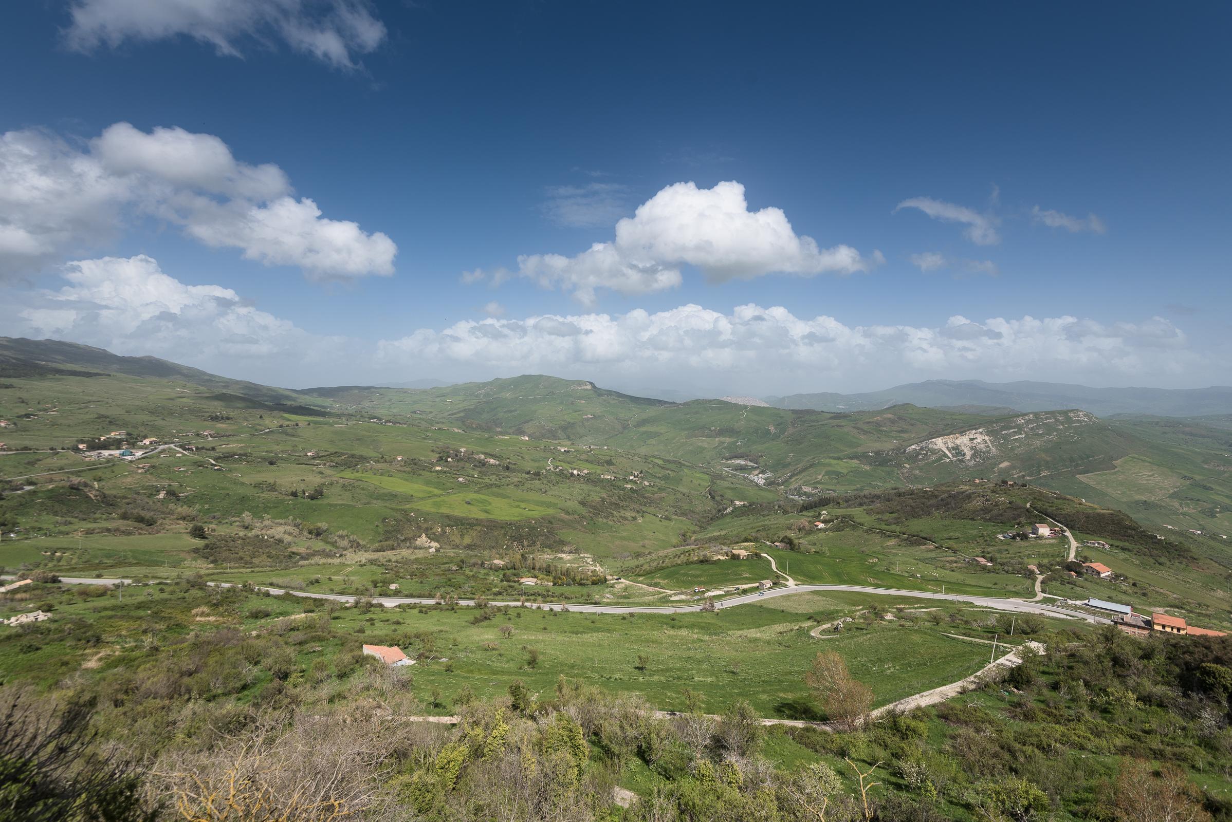 Sicily inland, landscapes of Petralia ...