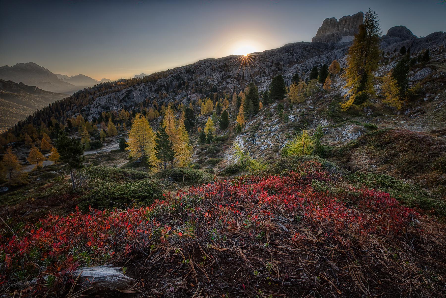 Autumn at Falzarego Pass...