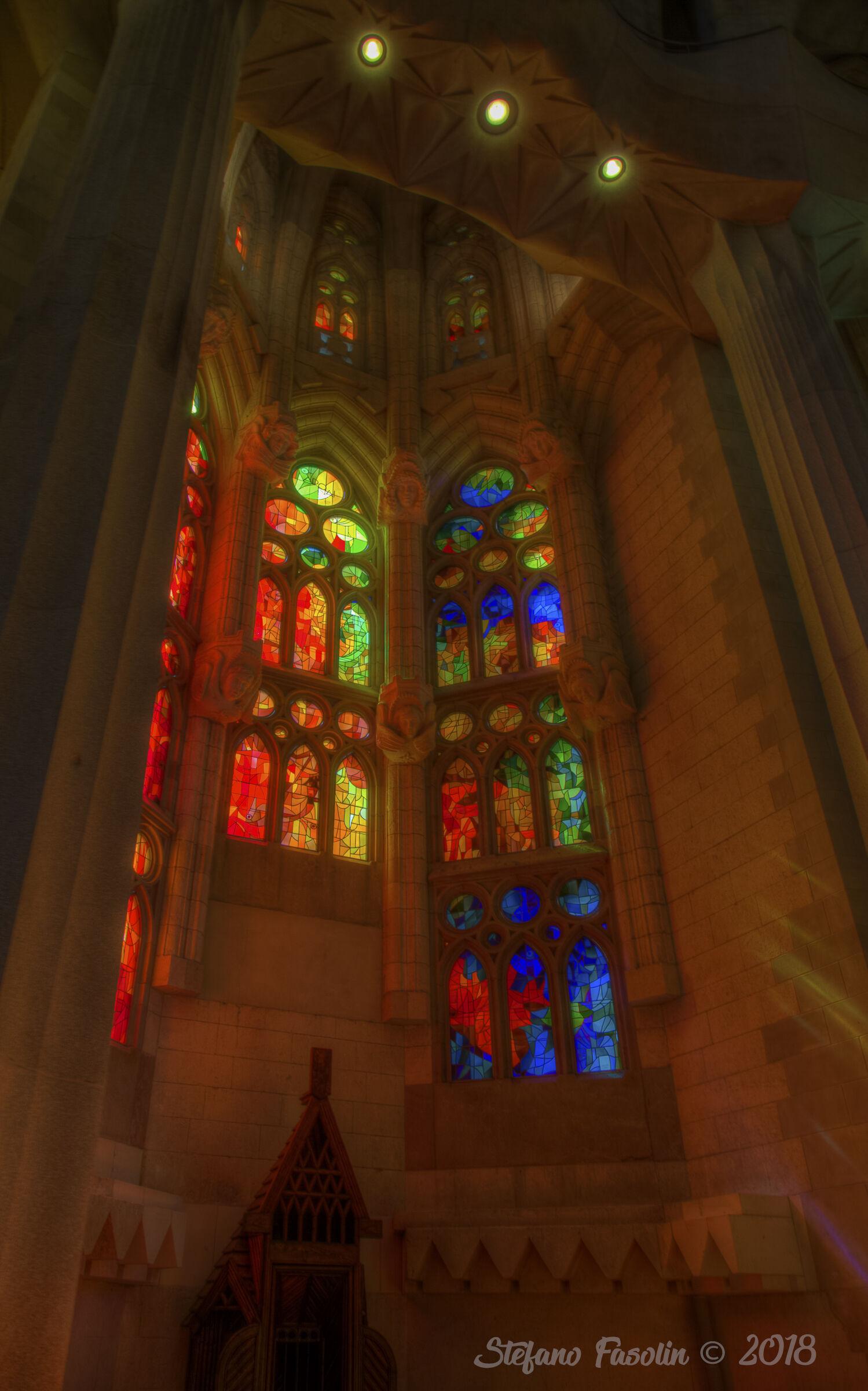 Lights of the Sagrada Familia...