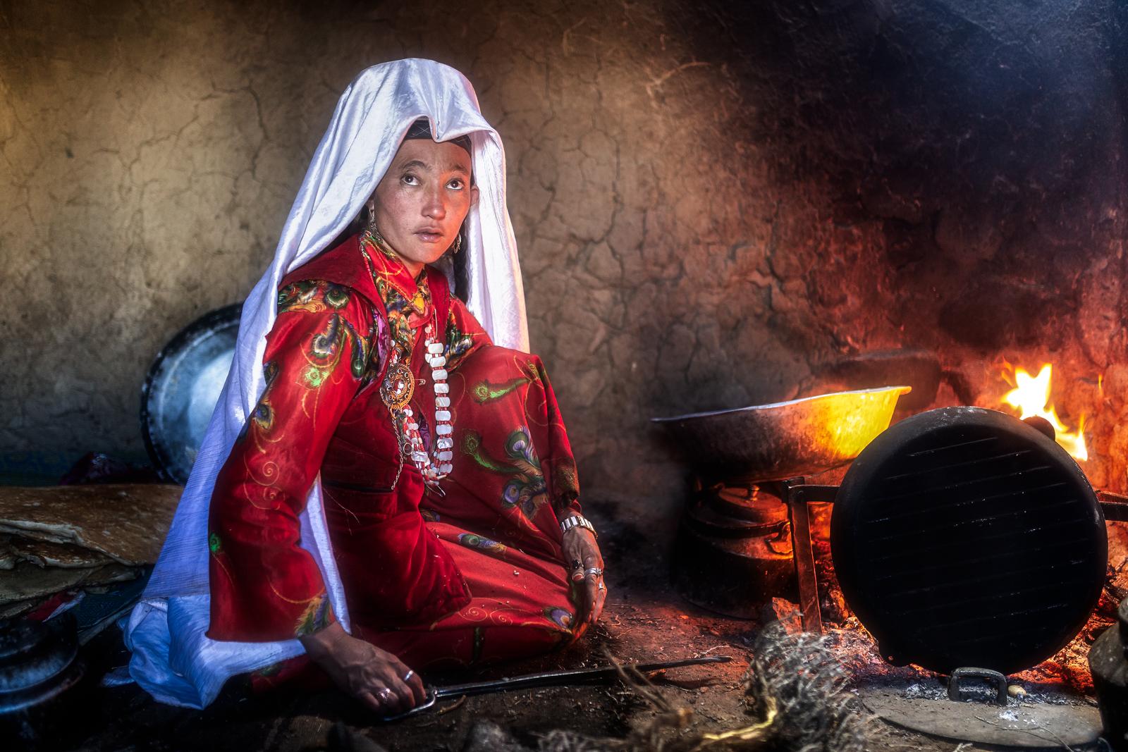 Kyrgyz woman...