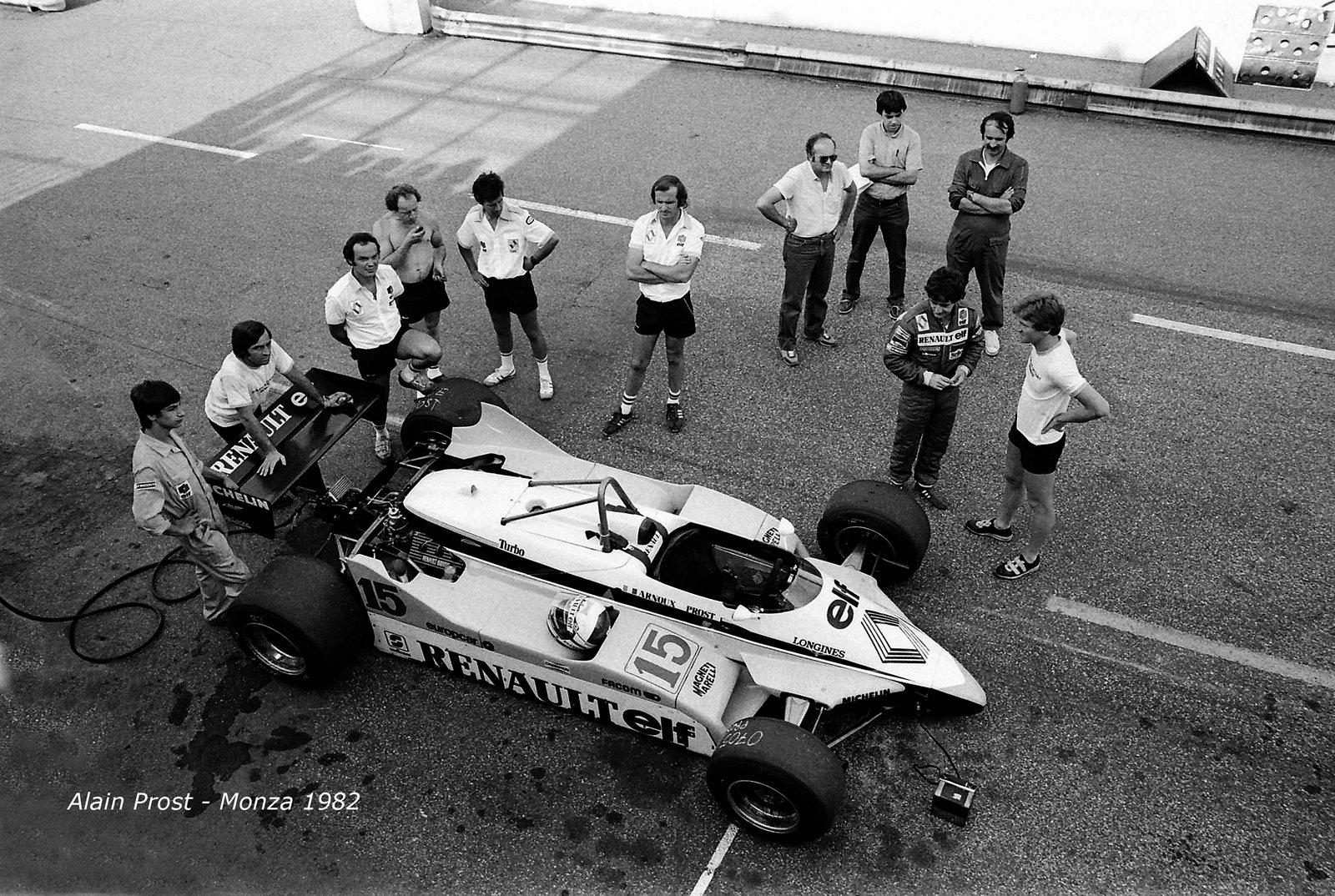 Alain Prost - Monza - terrace box...