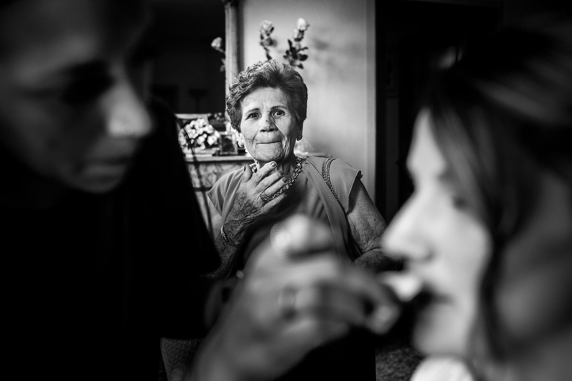 La nonna della sposa e il suo stupore...