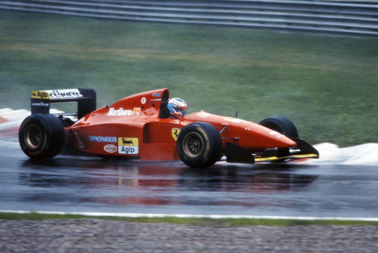 Nicola Larini in the Rain...