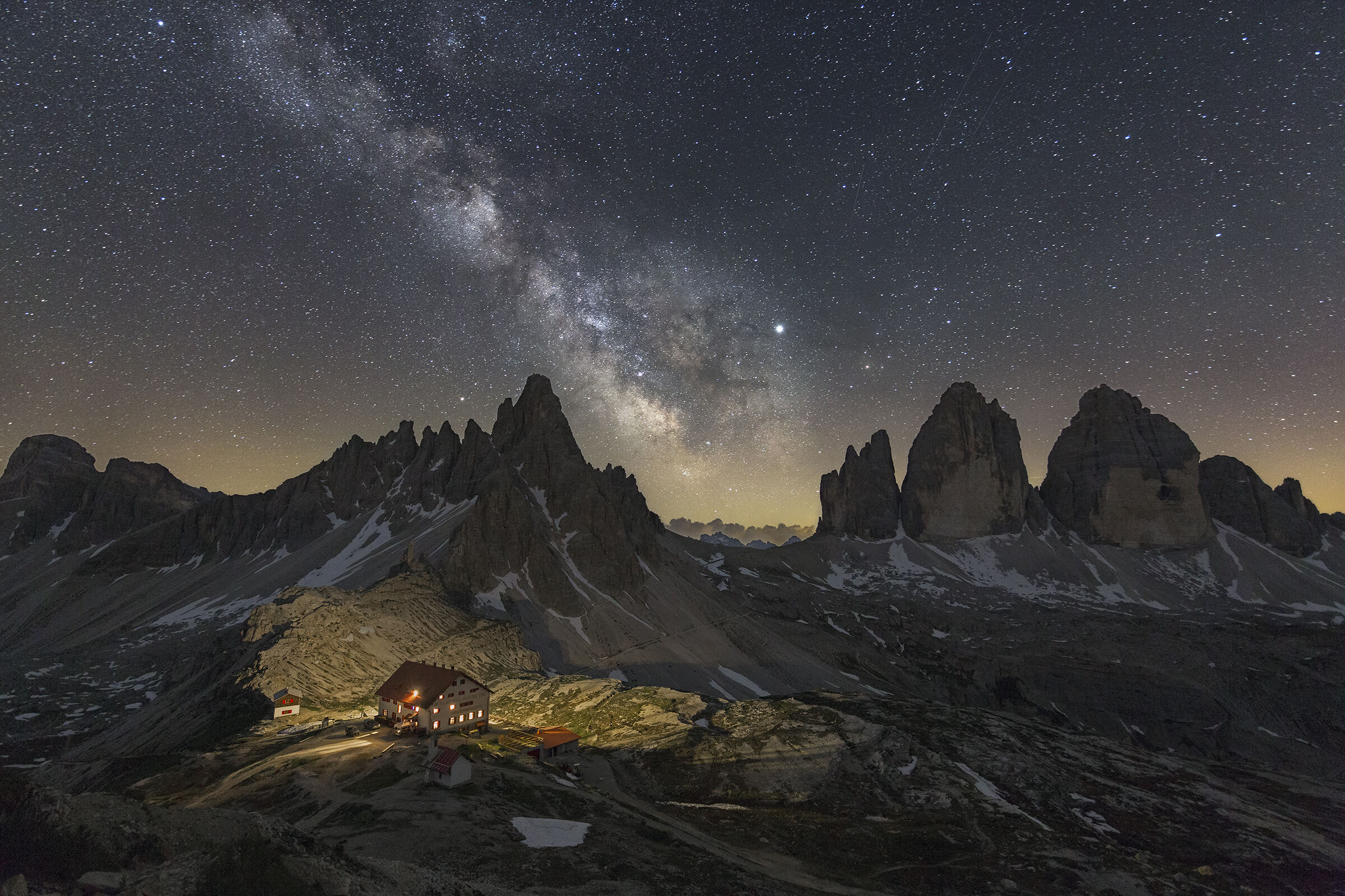 Three Peaks, Milky Way and Paterno...