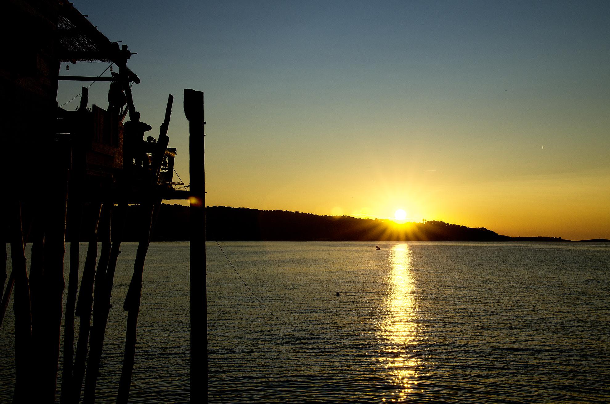 Trabucco al tramonto...
