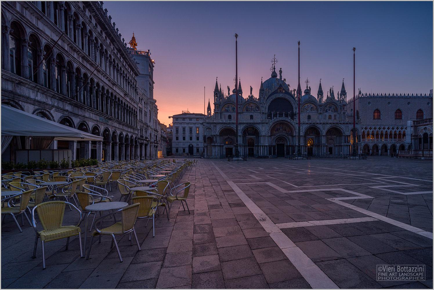 St. Mark's Square at dawn...